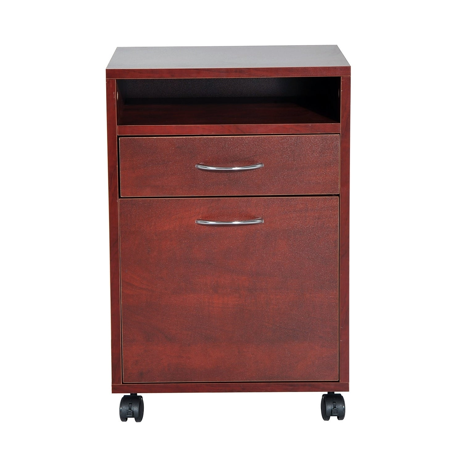 Homcom 24 Rolling End Table Mobile Printer Cart Nightstand Organizer Brown Free Shipping Today 18087017