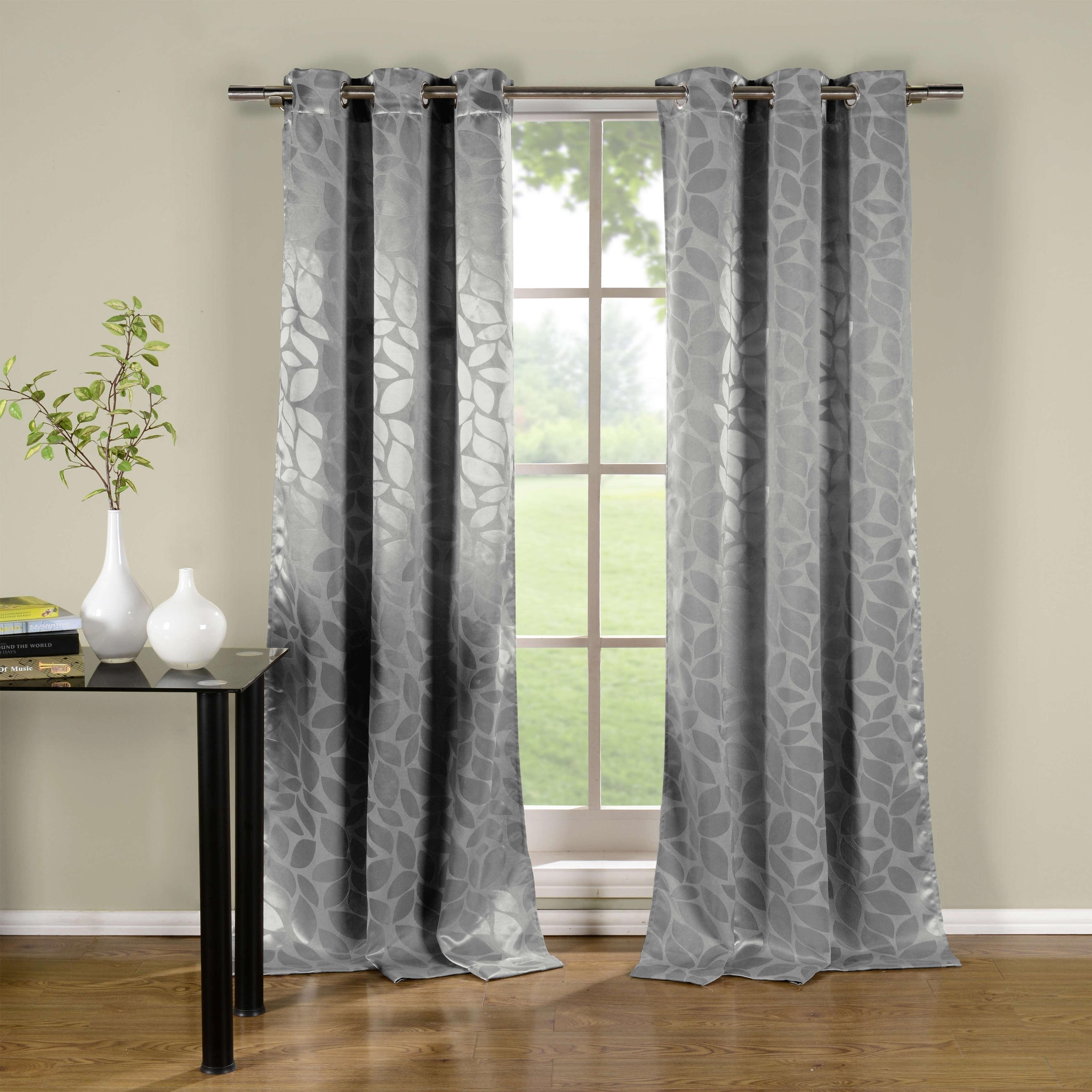 Duck River Zayden Metallic Floral Blackout Curtain Panel Pair