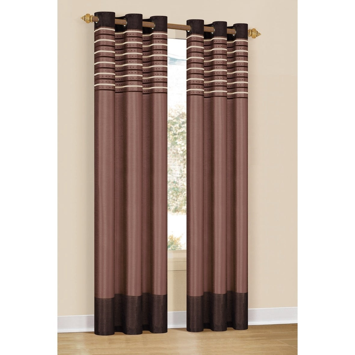 Shop Duck River Cityscape Embroidered Curtain Panel Pair