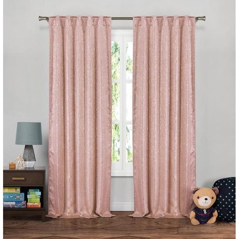 Lala Bash Maddie Sparkles Blackout Curtain Panel Pair - 37x84\