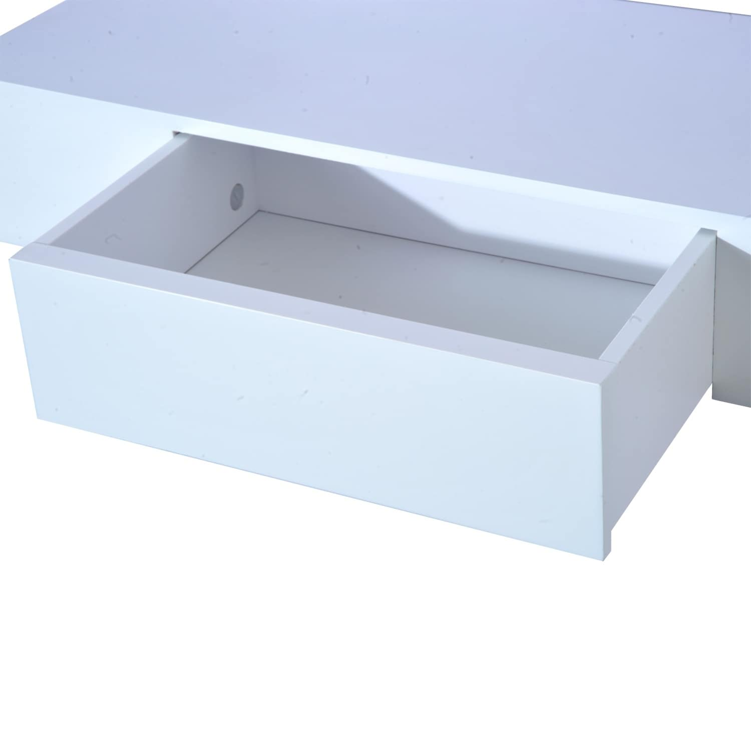floating drawer storage mounted modern home goods homcom wall hidden inch with shelf small