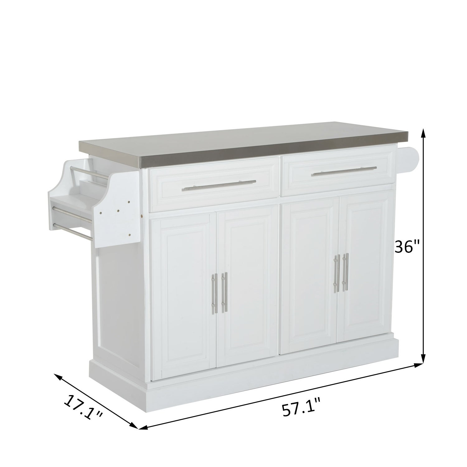 Hom Kitchen Island Modern Rolling Storage Cart on Wheels With