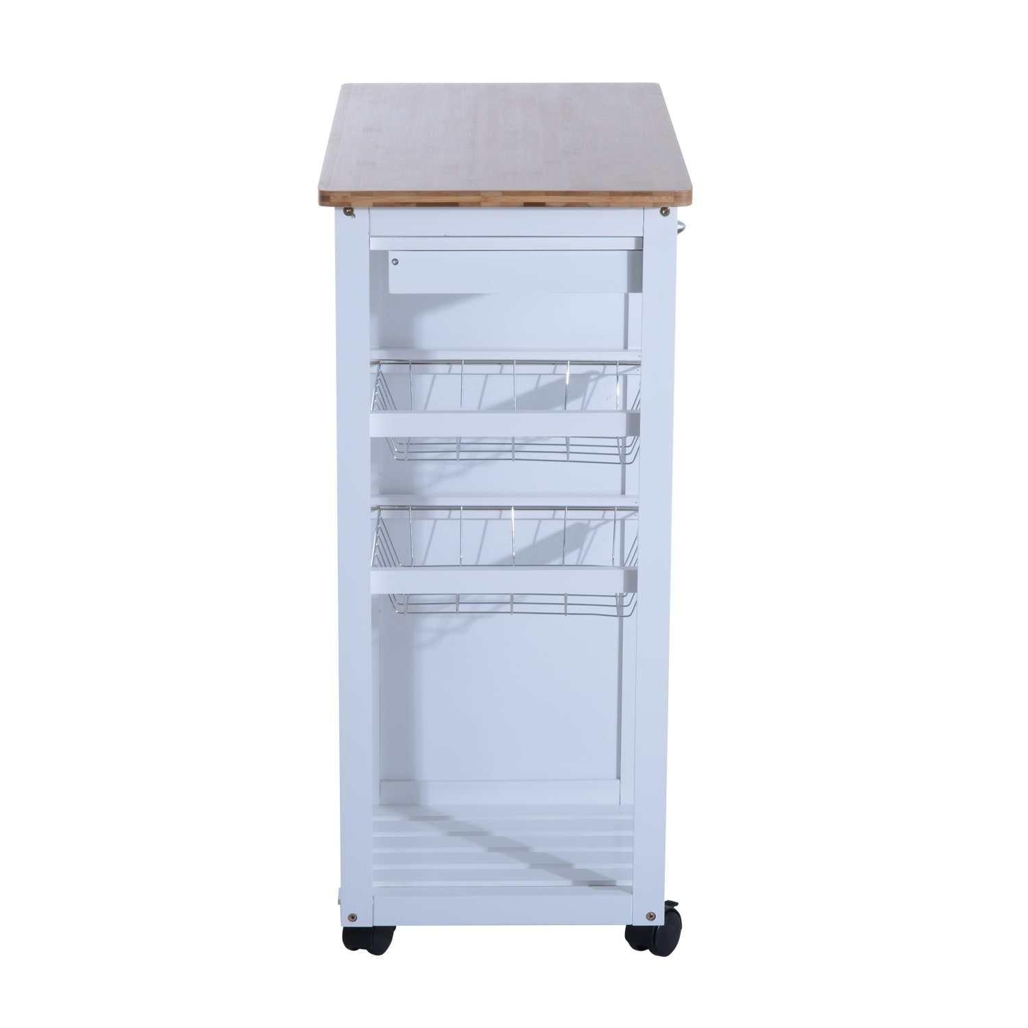 Homcom 34 Rolling Kitchen Trolley Serving Cart With Drawers And Cabinet On Free Shipping Today 18088169