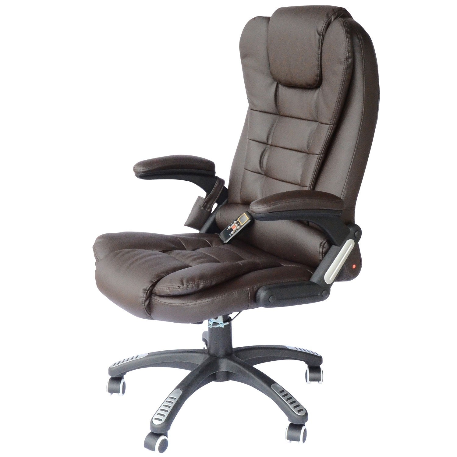 Superieur Shop HomCom Executive Ergonomic Heated Vibrating Massage Office Chair   Brown   Free Shipping Today   Overstock.com   18088215