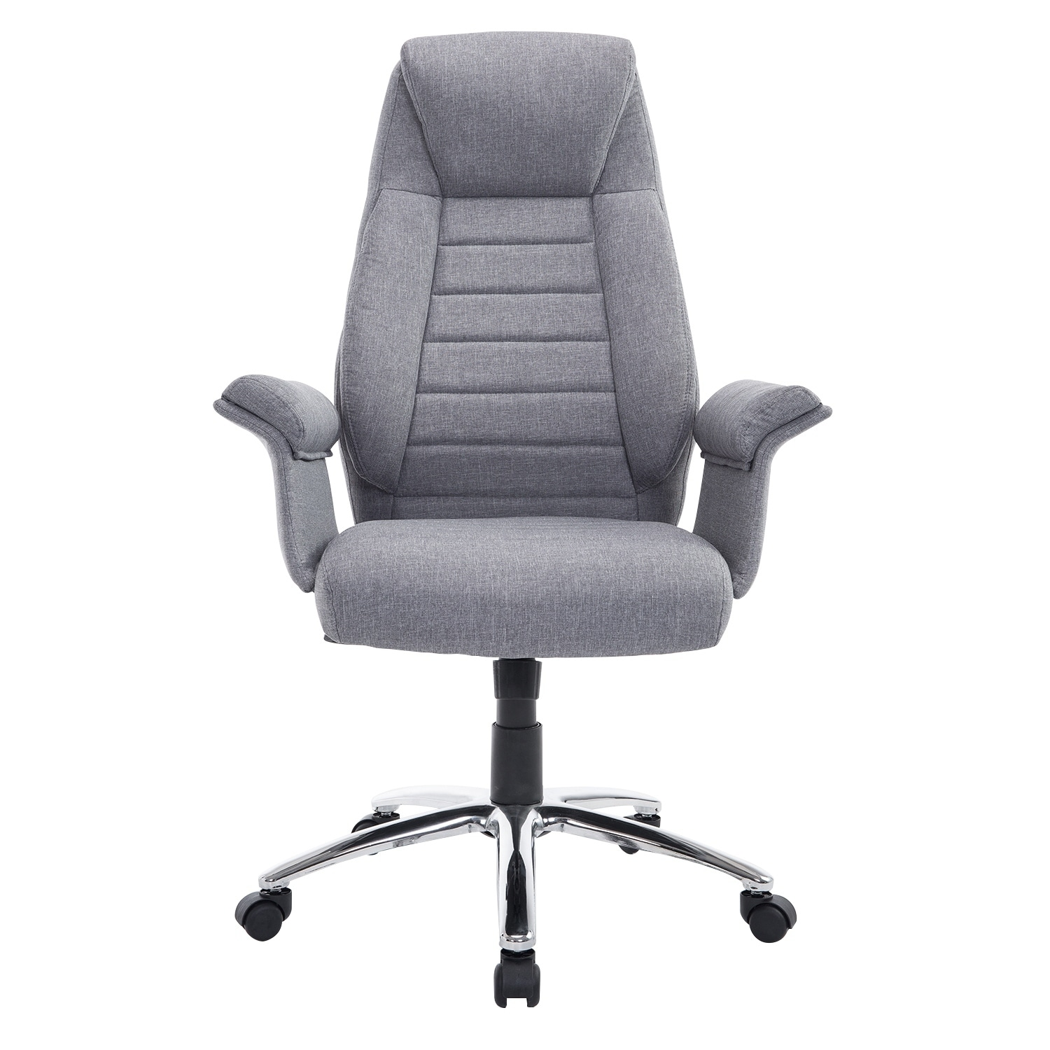 Exceptionnel Shop HomCom High Back Fabric Executive Office Chair   Light Gray   Free  Shipping Today   Overstock.com   18088228