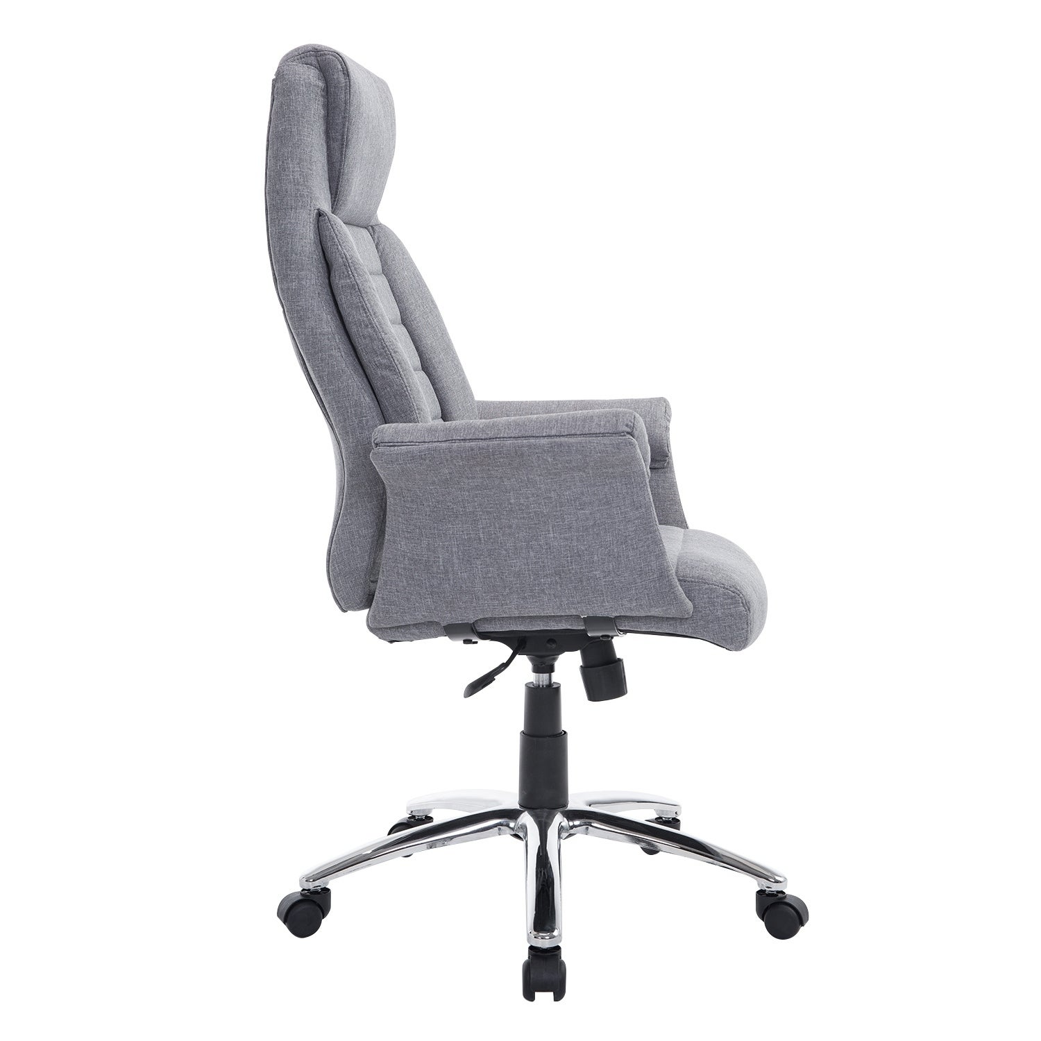 Homcom High Back Fabric Executive Office Chair Light Gray Free Shipping Today 18088228