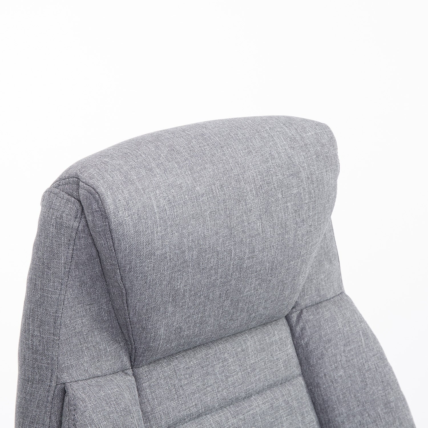 HomCom High Back Fabric Executive Office Chair   Light Gray   Free Shipping  Today   Overstock   24247286