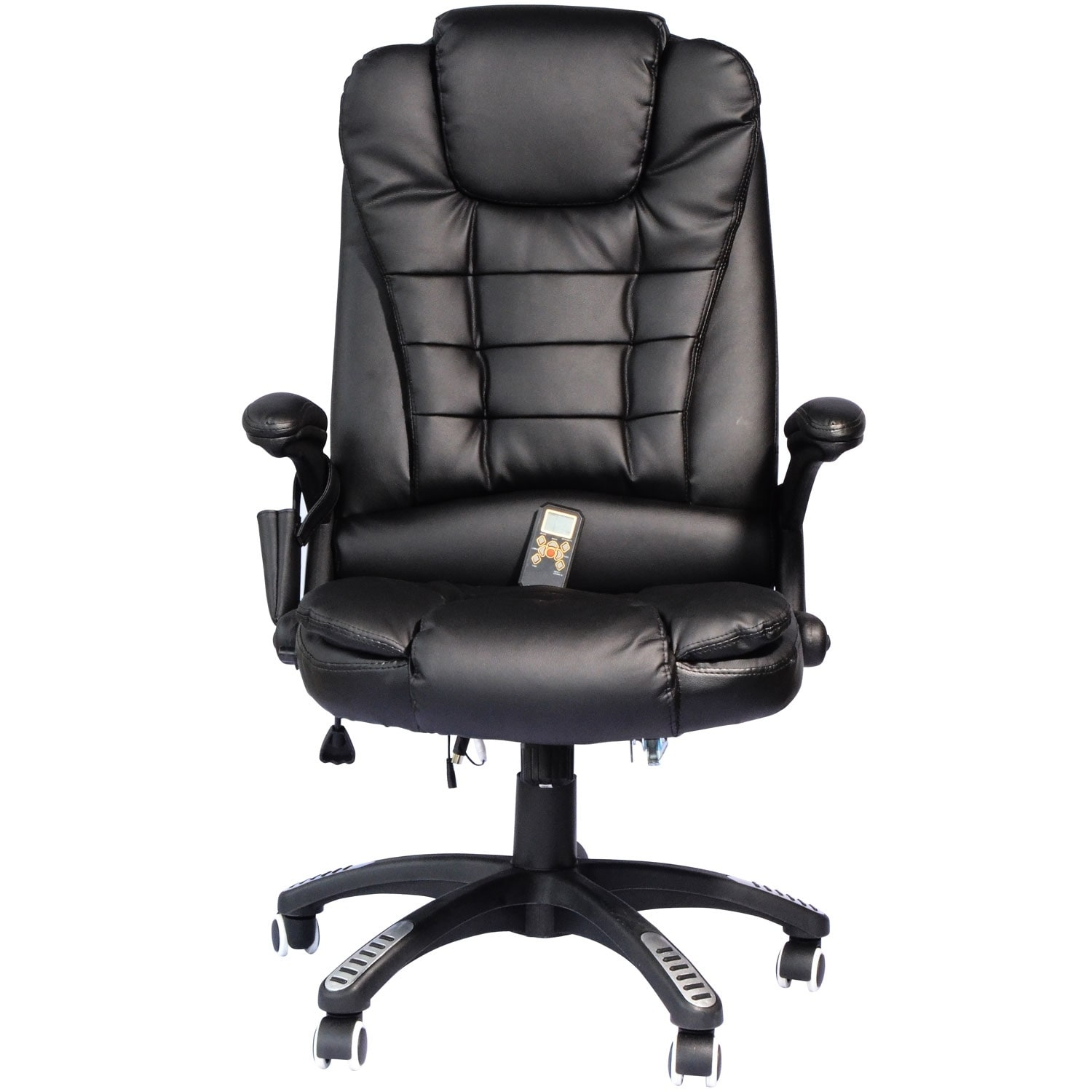 Homcom Executive Ergonomic Heated Vibrating Mage Office Chair W Remote Control Black Free Shipping Today 18088239