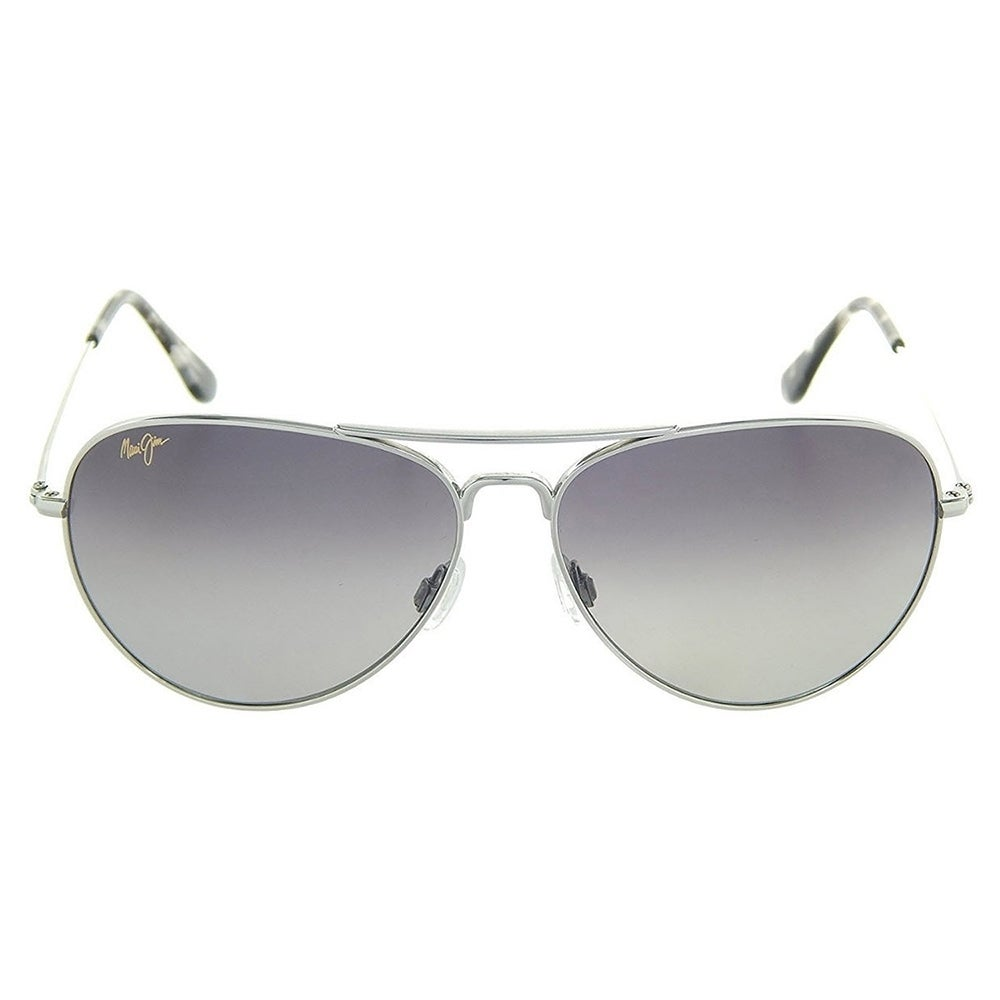 fa4b9f00f1 Shop Maui Jim Unisex Mavericks GS264 17 Silver Frame Neutral Grey Polarized  Lens Aviator Sunglasses - Free Shipping Today - Overstock.com - 18088651