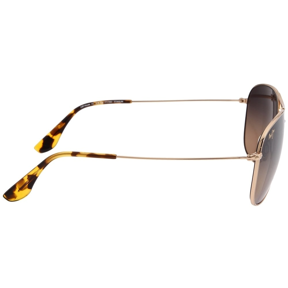 35c70ab4e5 Shop Maui Jim Unisex Cliff House HS247 16 Gold Frame HCL Bronze Gradient Polarized  Lens Aviator Sunglasses - Free Shipping Today - Overstock - 18088652