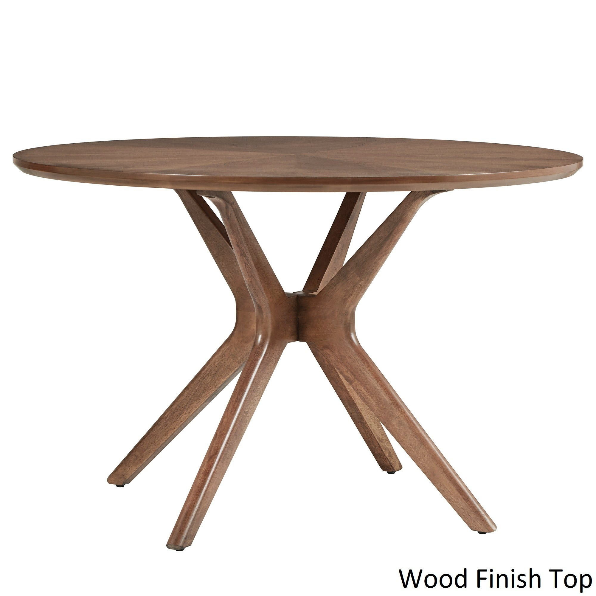 Shop Nadine Mid Century Walnut Finish Round Dining Table By INSPIRE Q  Modern   On Sale   Free Shipping Today   Overstock.com   18090126