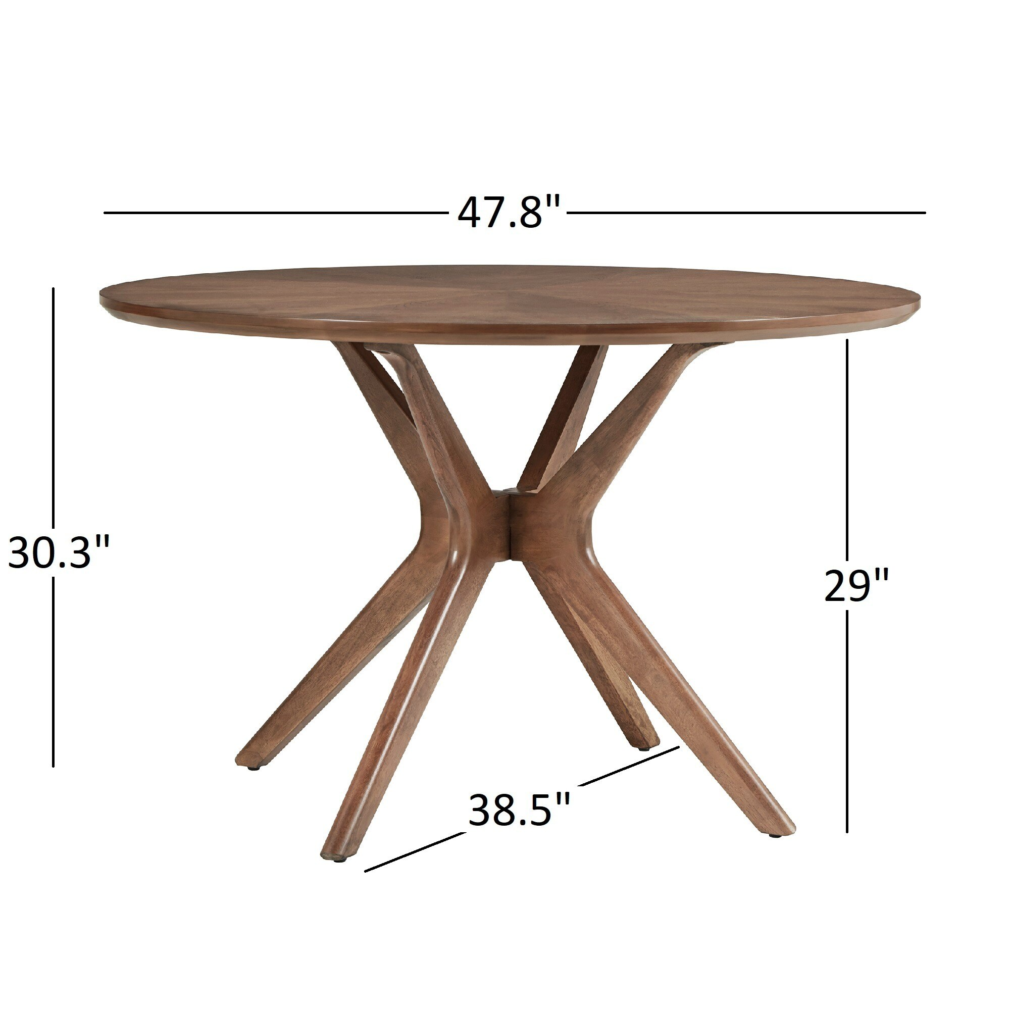 utrails elegant pedestal inch home the design table dining round