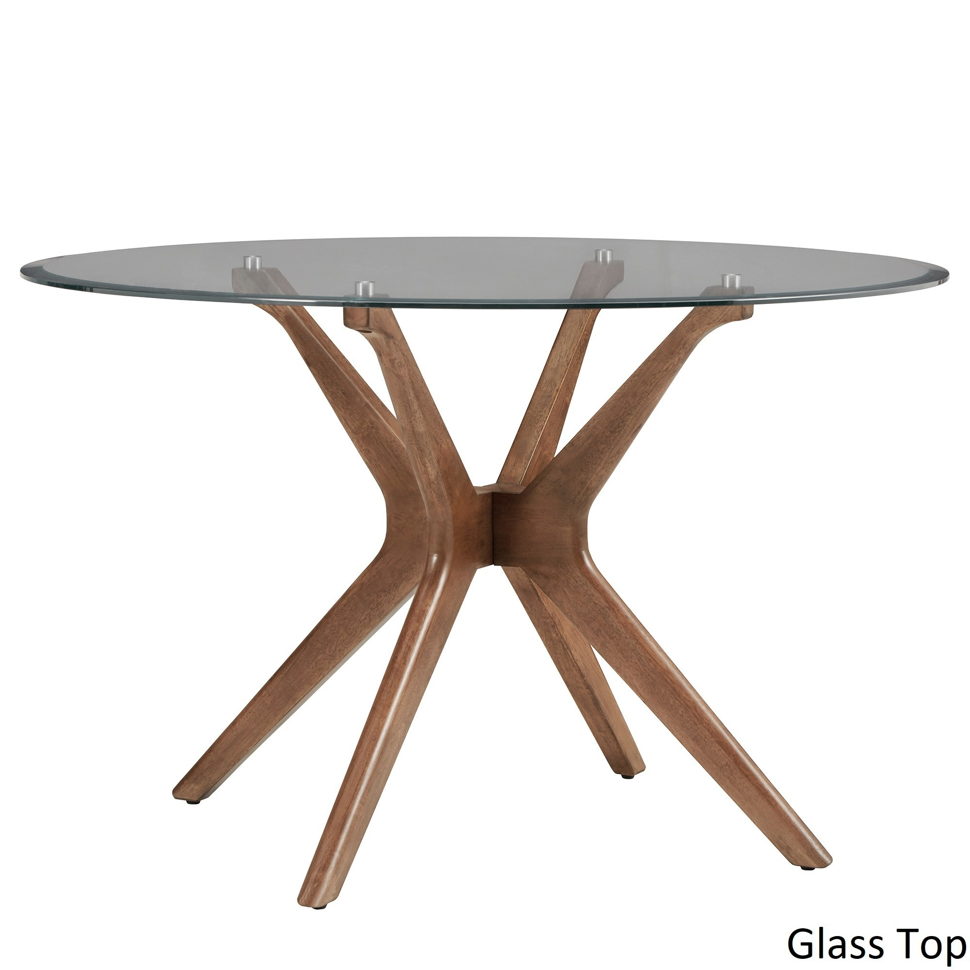 36298de69e24 Shop Nadine Mid-Century Walnut Finish Round Dining Table by iNSPIRE Q Modern  - On Sale - Free Shipping Today - Overstock - 18090126
