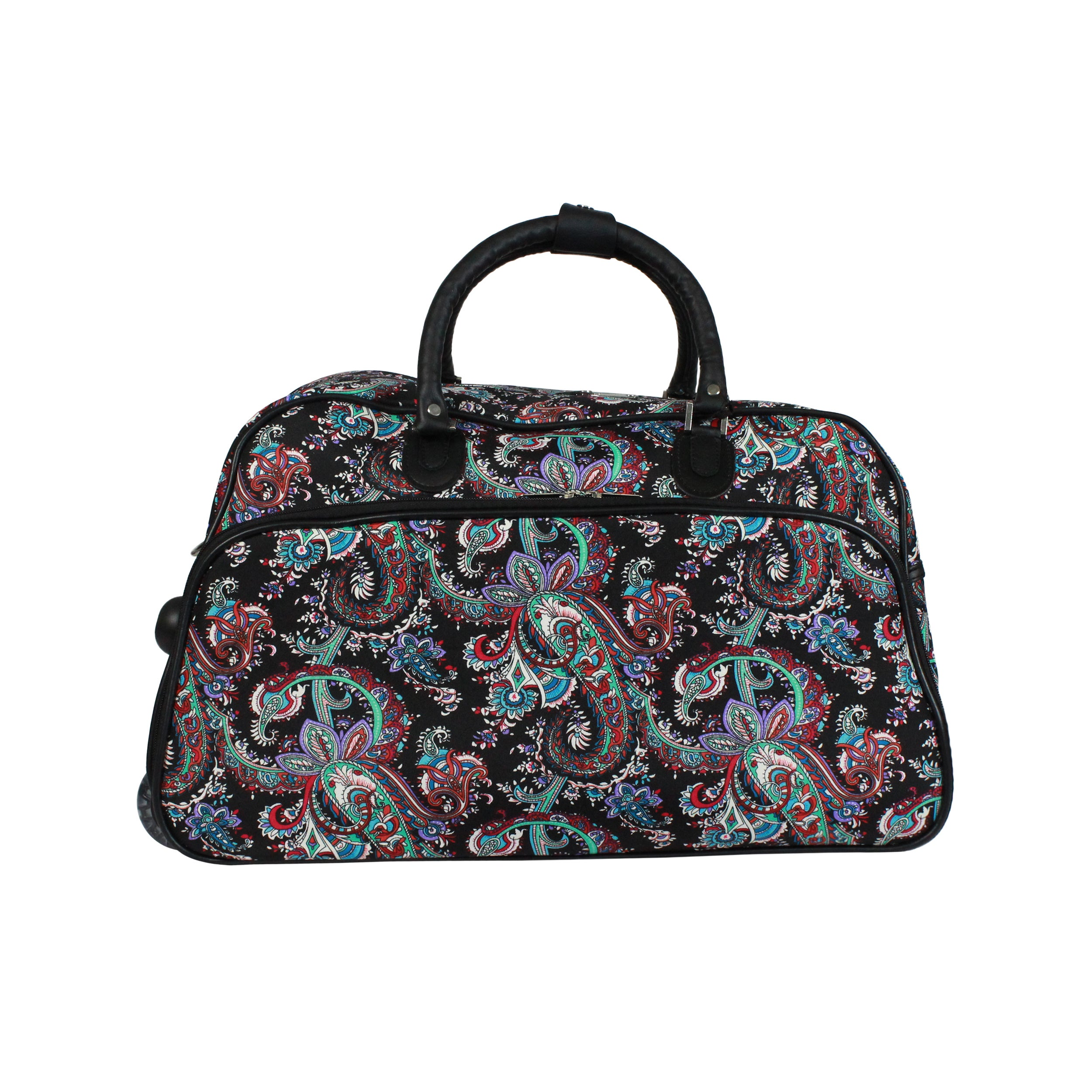 Shop World Traveler Paisley 21-Inch Carry-On Rolling Duffel Bag - Free  Shipping Today - Overstock.com - 18090489 0e71c69f21