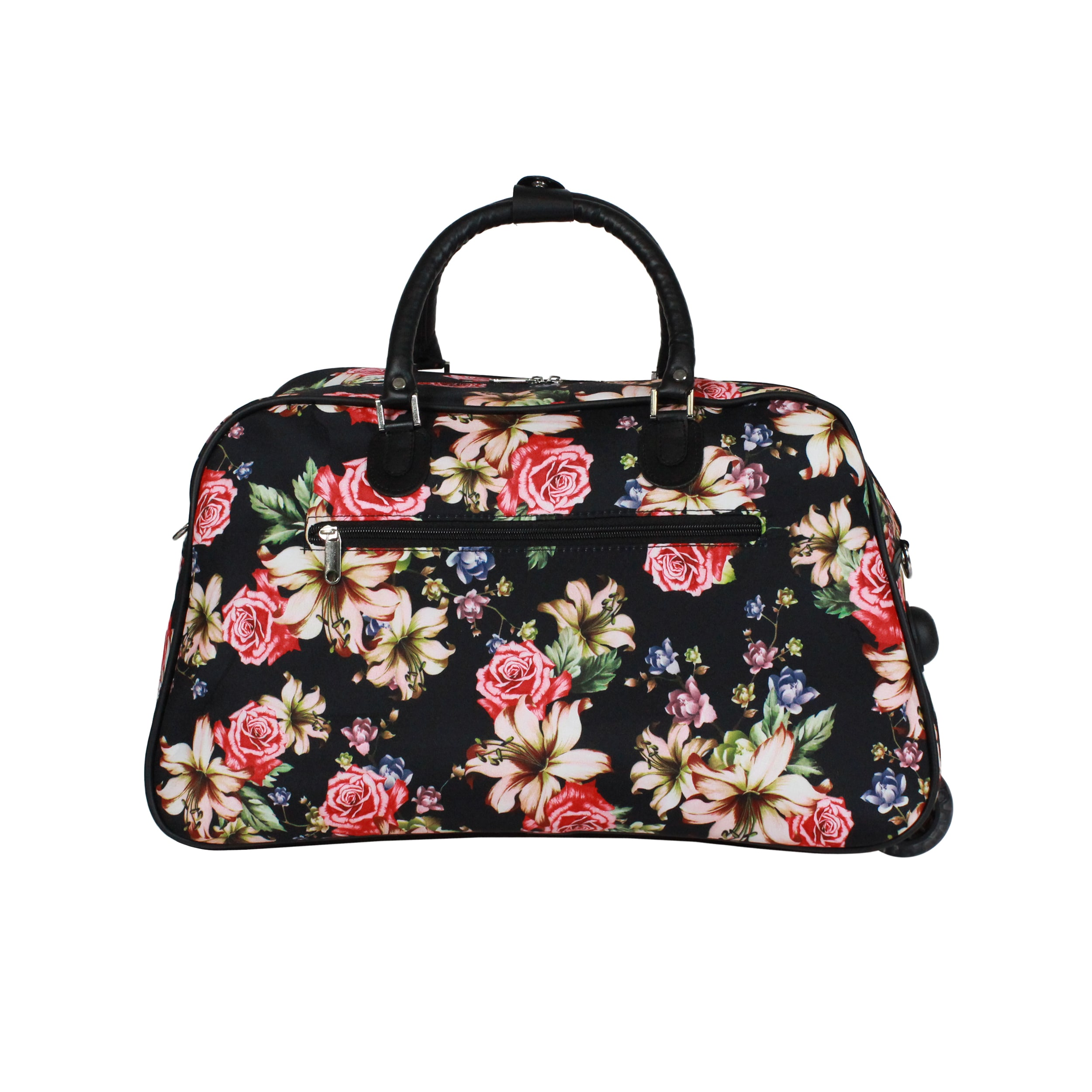Shop World Traveler Flower Bloom 21-Inch Carry-On Rolling Duffel Bag ... 0cf9ae0289