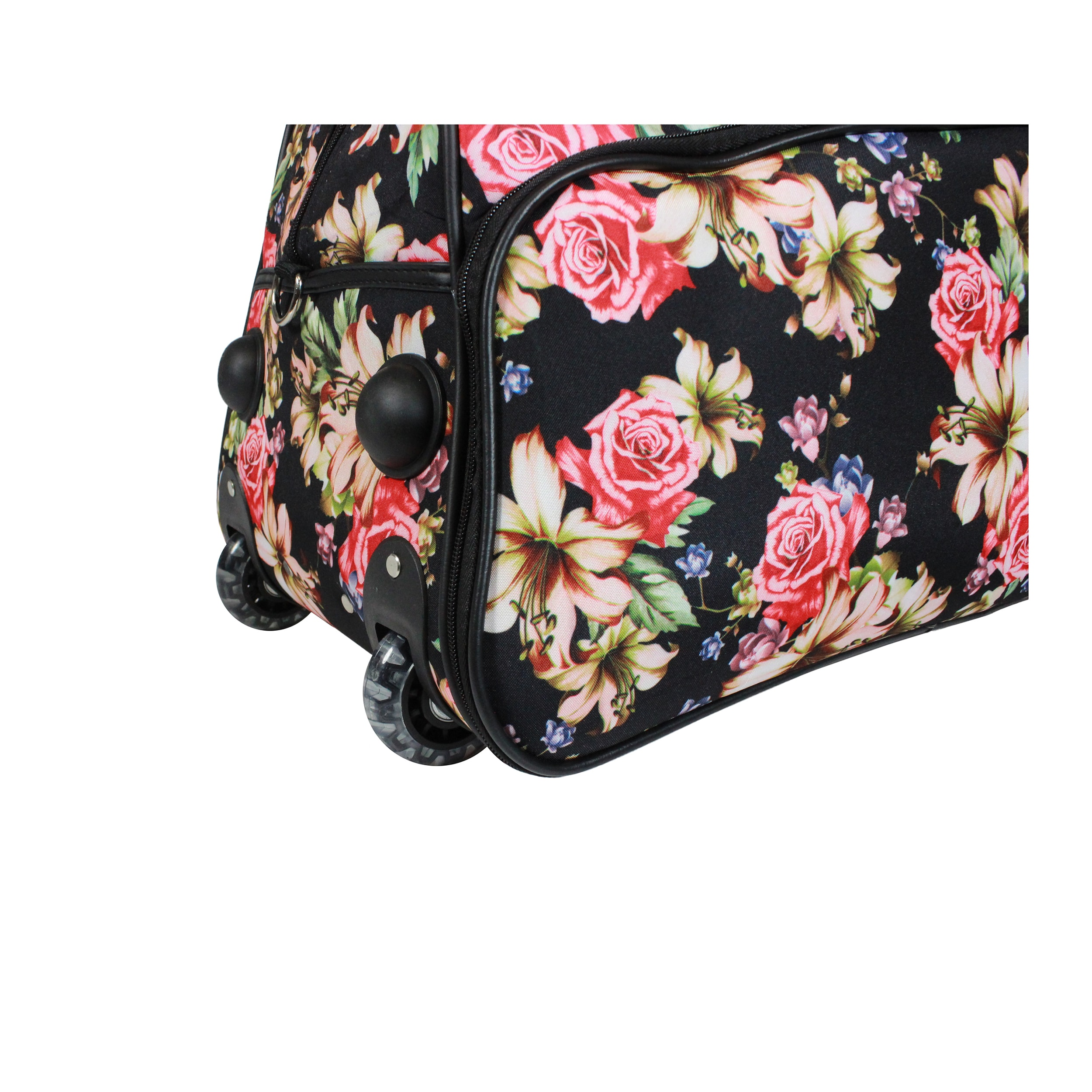 Shop World Traveler Flower Bloom 21-Inch Carry-On Rolling Duffel Bag - Free  Shipping Today - Overstock.com - 18090525 62e34c2bbd