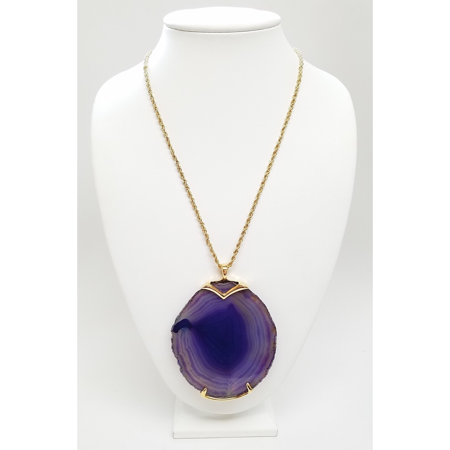 purple hi cleo necklace stone res