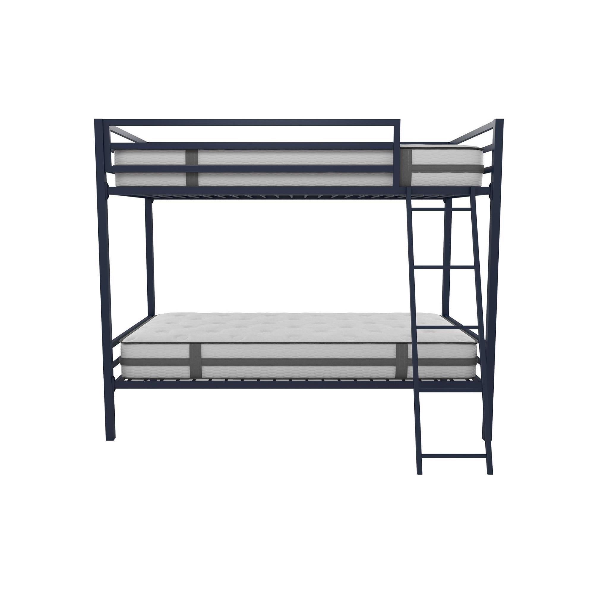 Shop Novogratz Maxwell Grey Metal Industrial Style Bunk Bed Free