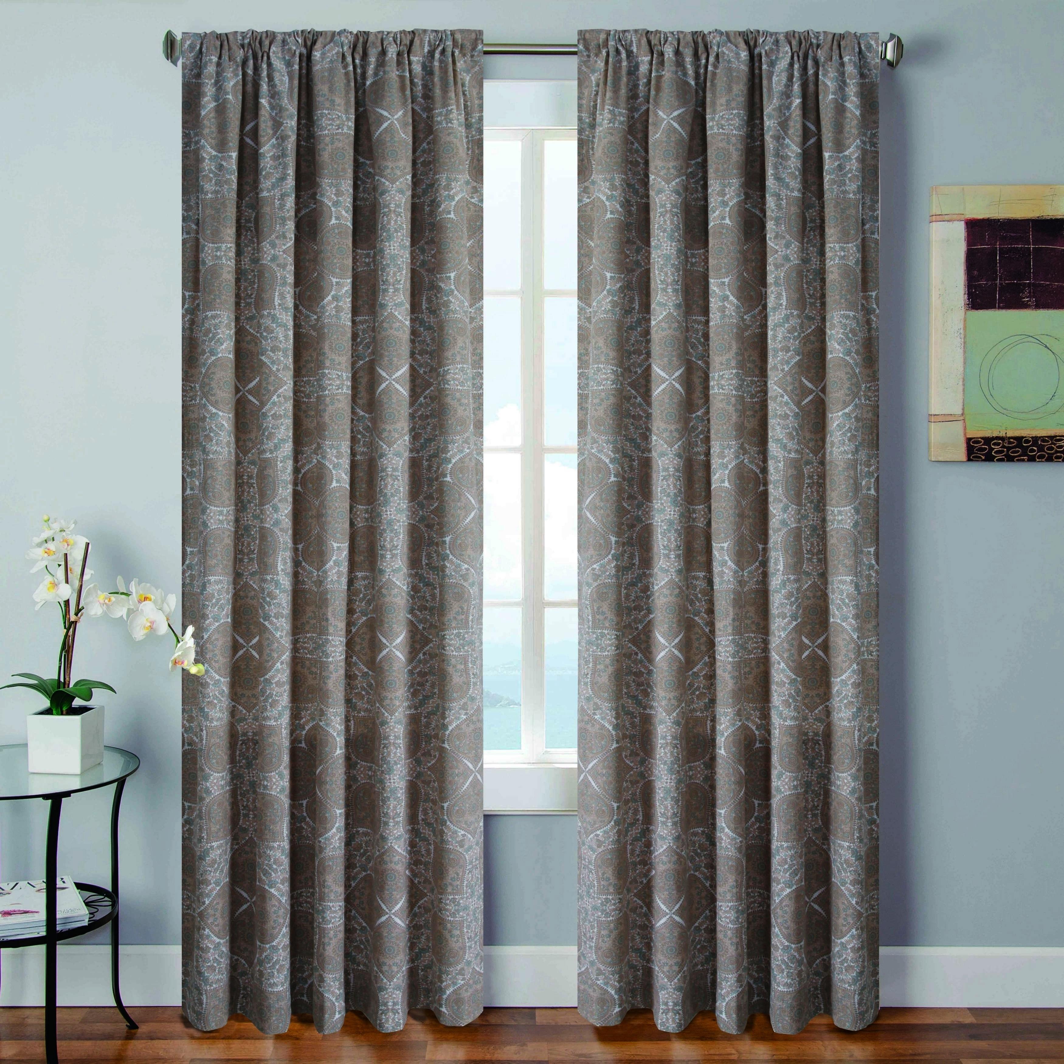 Vera Tarah 96 Inch Curtain Panel Pair 52x96 Free Shipping Today 18092360