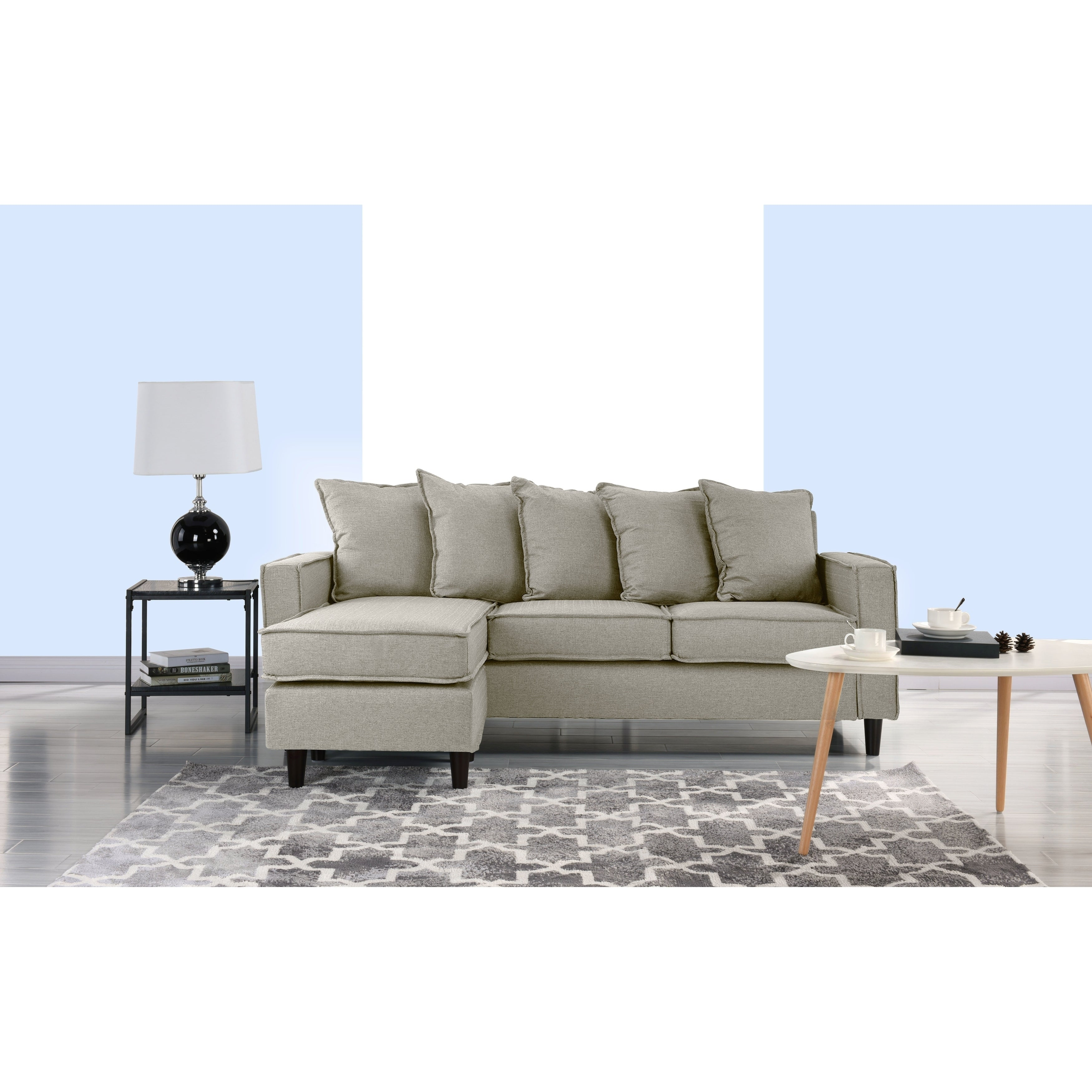 Shop Modern Sectional Sofa Small Space Configurable Couch Free