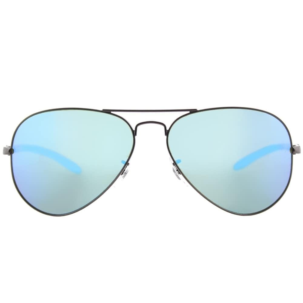 d5b5876fb9 Shop Ray-Ban Aviator RB 8317CH 029 A1 Unisex Matte Gunmetal Frame Blue  Mirror Chromance Lens Sunglasses - Free Shipping Today - Overstock -  18094188