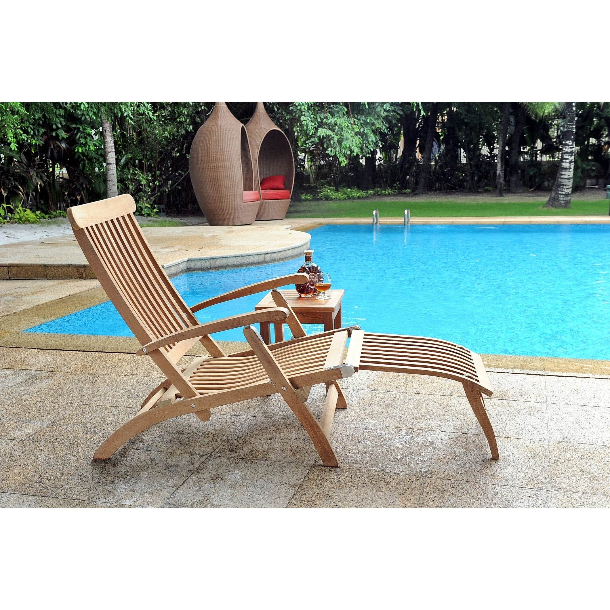 Steamer Outdoor Folding Teak Chaise Lounge Chair Free Shipping Today 18095324