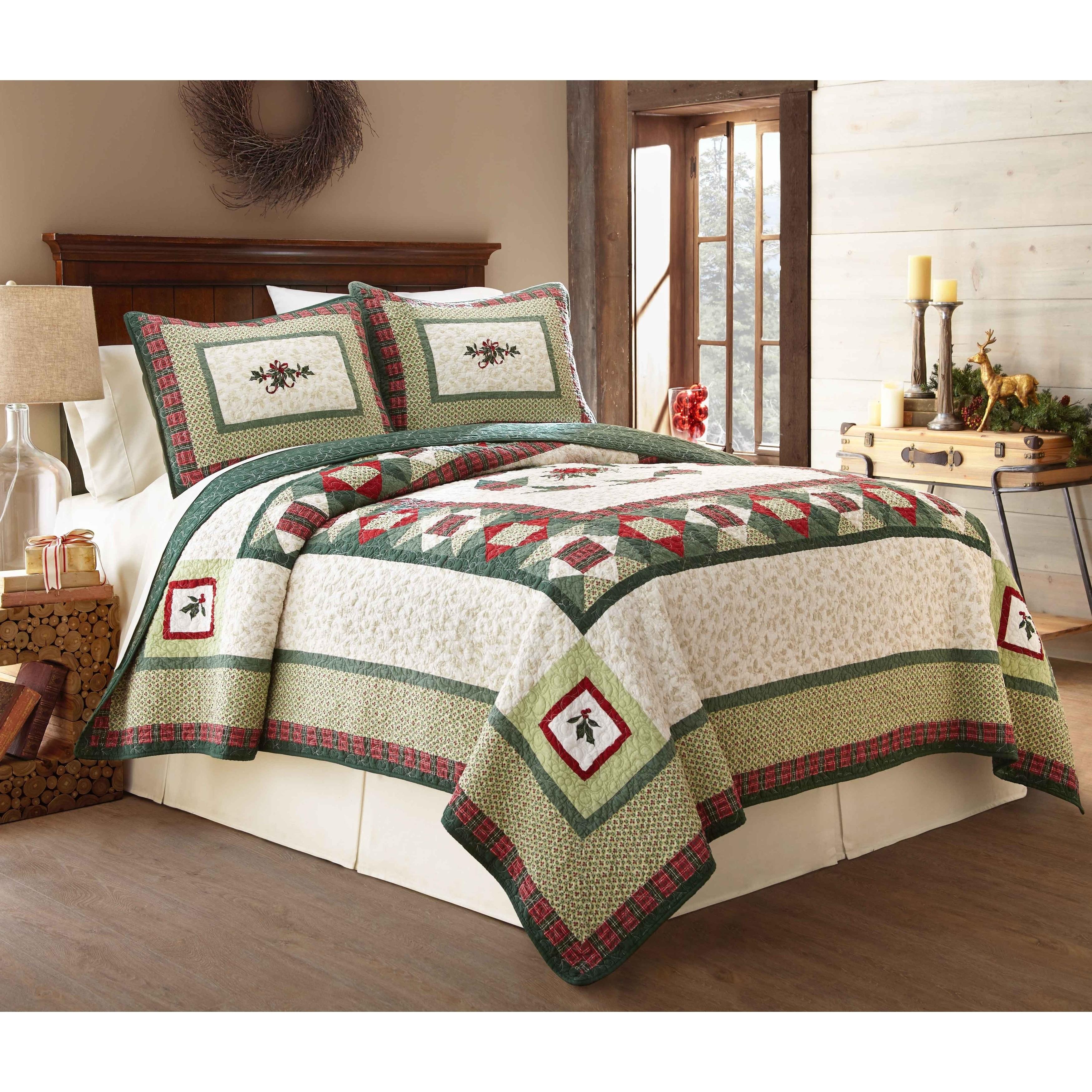 Shop Lenox Winter Greetings 100 Percent Cotton 3 Piece Quilt Sets