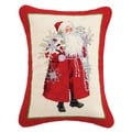 Lynn Haney Snowflakes and Scarlet Santa Needlepoint Pillow