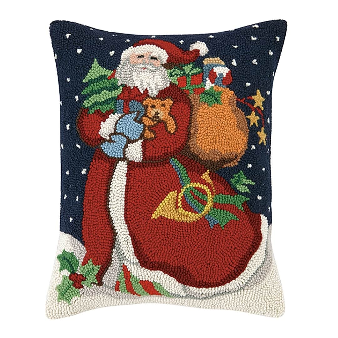 Shop Susan Winget Santa With Doggy Hook Pillow - Free Shipping Today ...