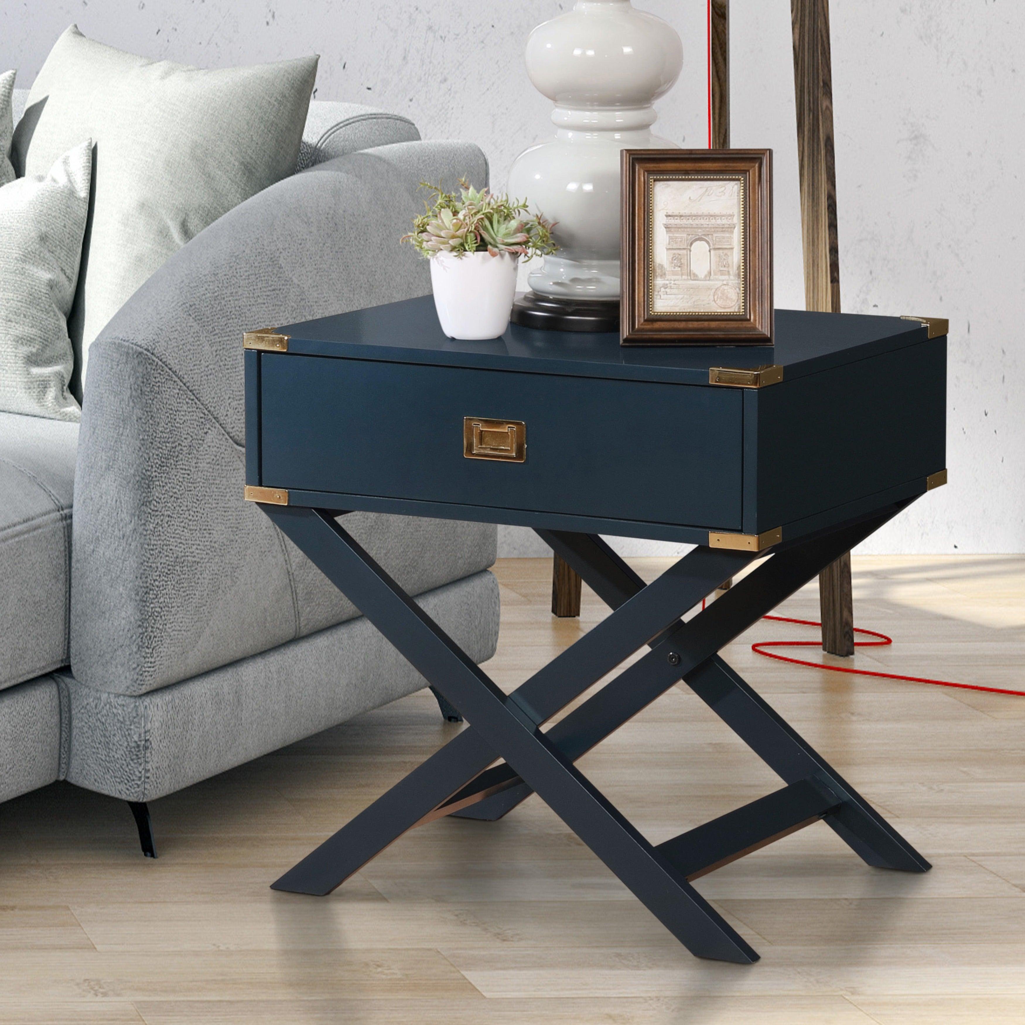 Furniture Of America Maysa Contemporary Single Drawer End Table   Free  Shipping Today   Overstock.com   24258173