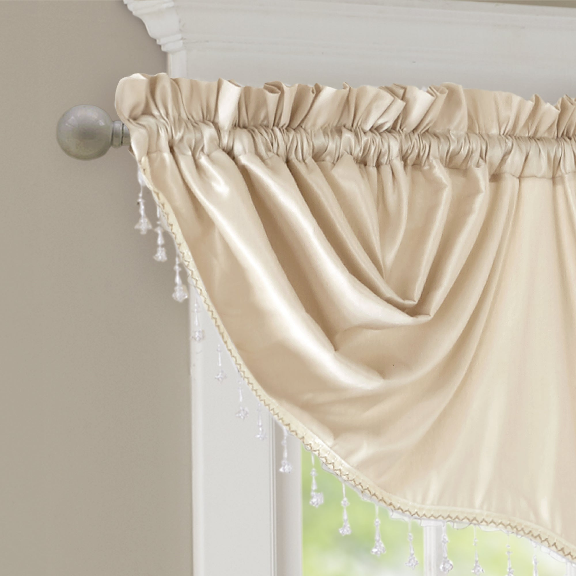 curtains ivory valance lace products marburn pocket rod swag alison