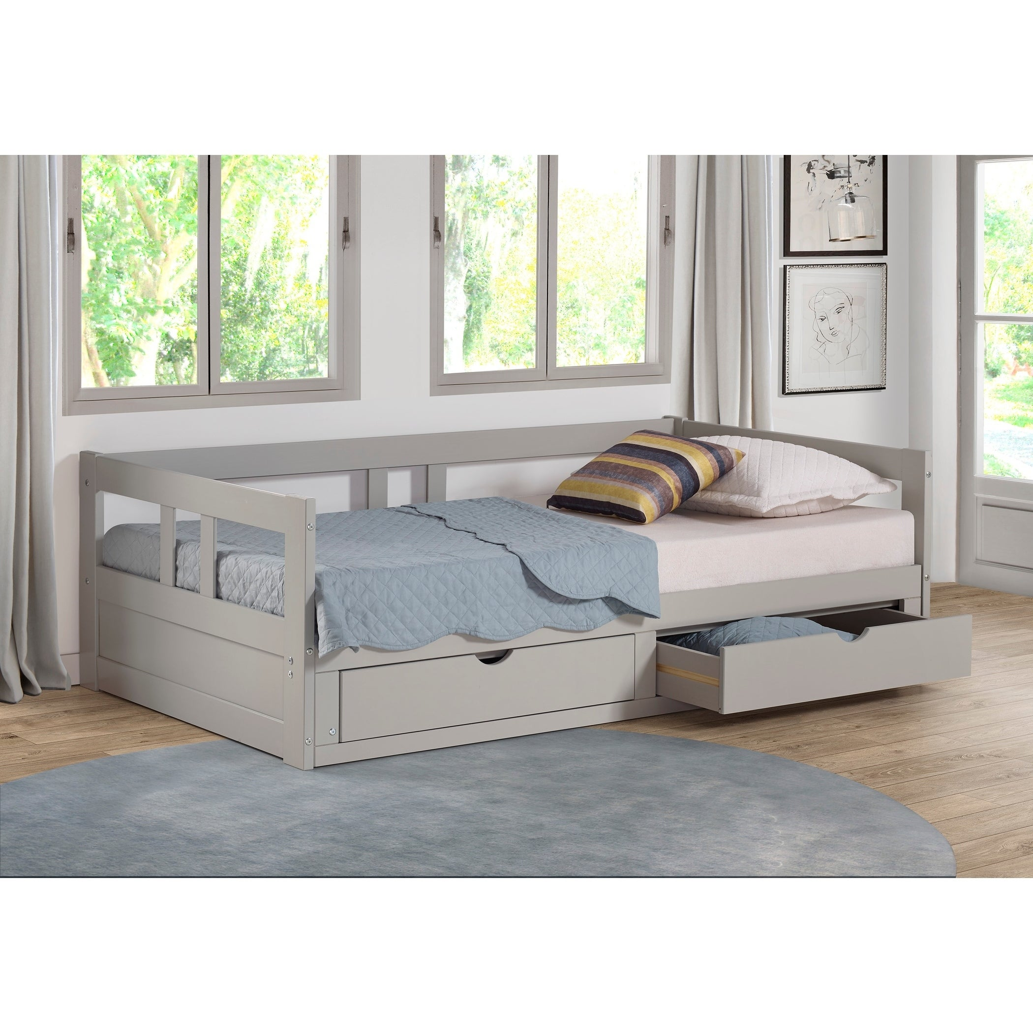 Shop Melody Expandable Twin to King Trundle Daybed with Storage ...