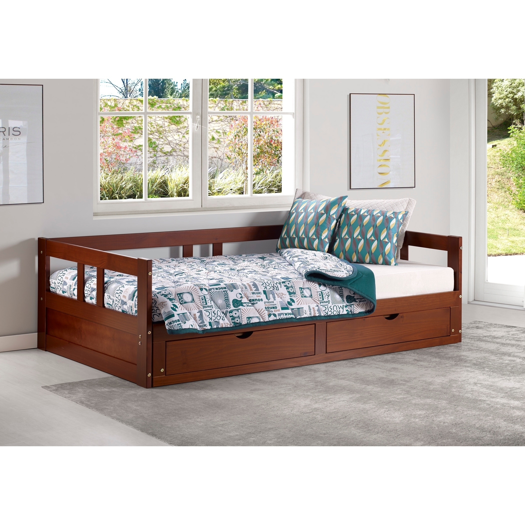 Melody Twin To King Trundle Daybed With Storage Drawers On Free Shipping Today 18105338