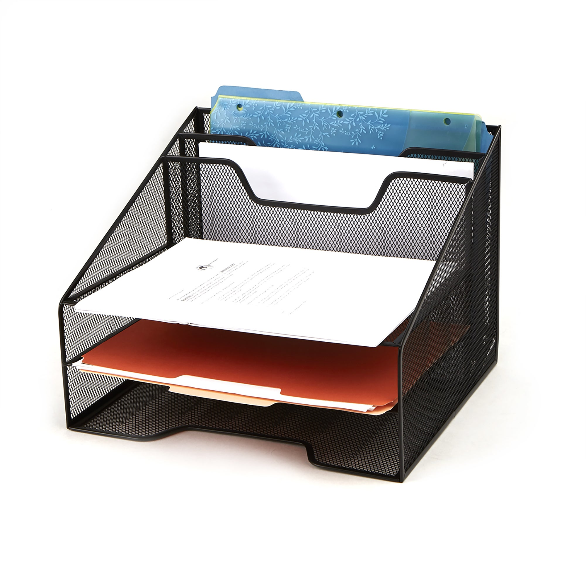 modern caddy organizer office contemporary mesh splendid top desk ingenuity paper wood