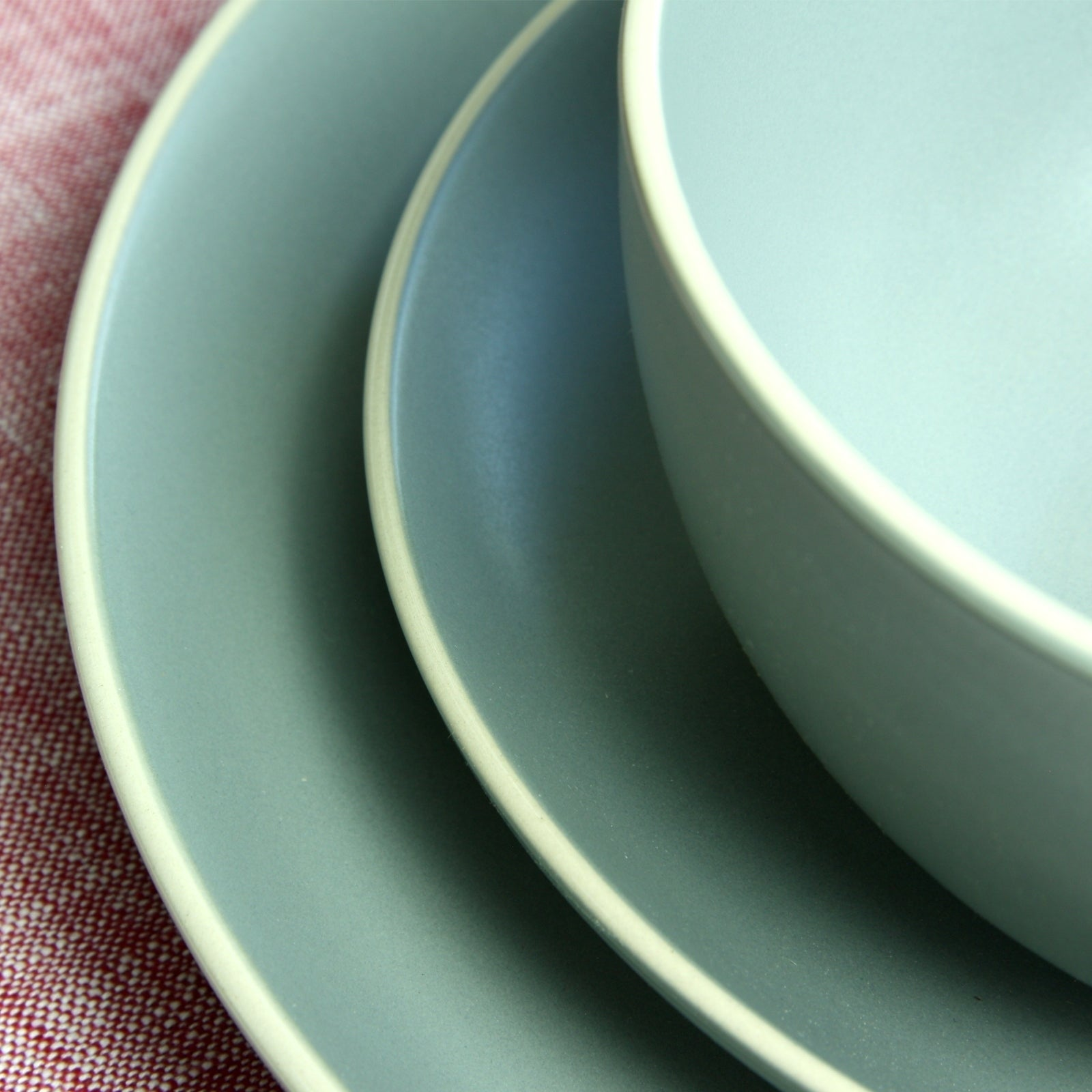 Gibson Home Rockaway 12-Piece Stoneware Dinnerware Set In Matte Teal - Free Shipping Today - Overstock - 24263893 & Gibson Home Rockaway 12-Piece Stoneware Dinnerware Set In Matte Teal ...