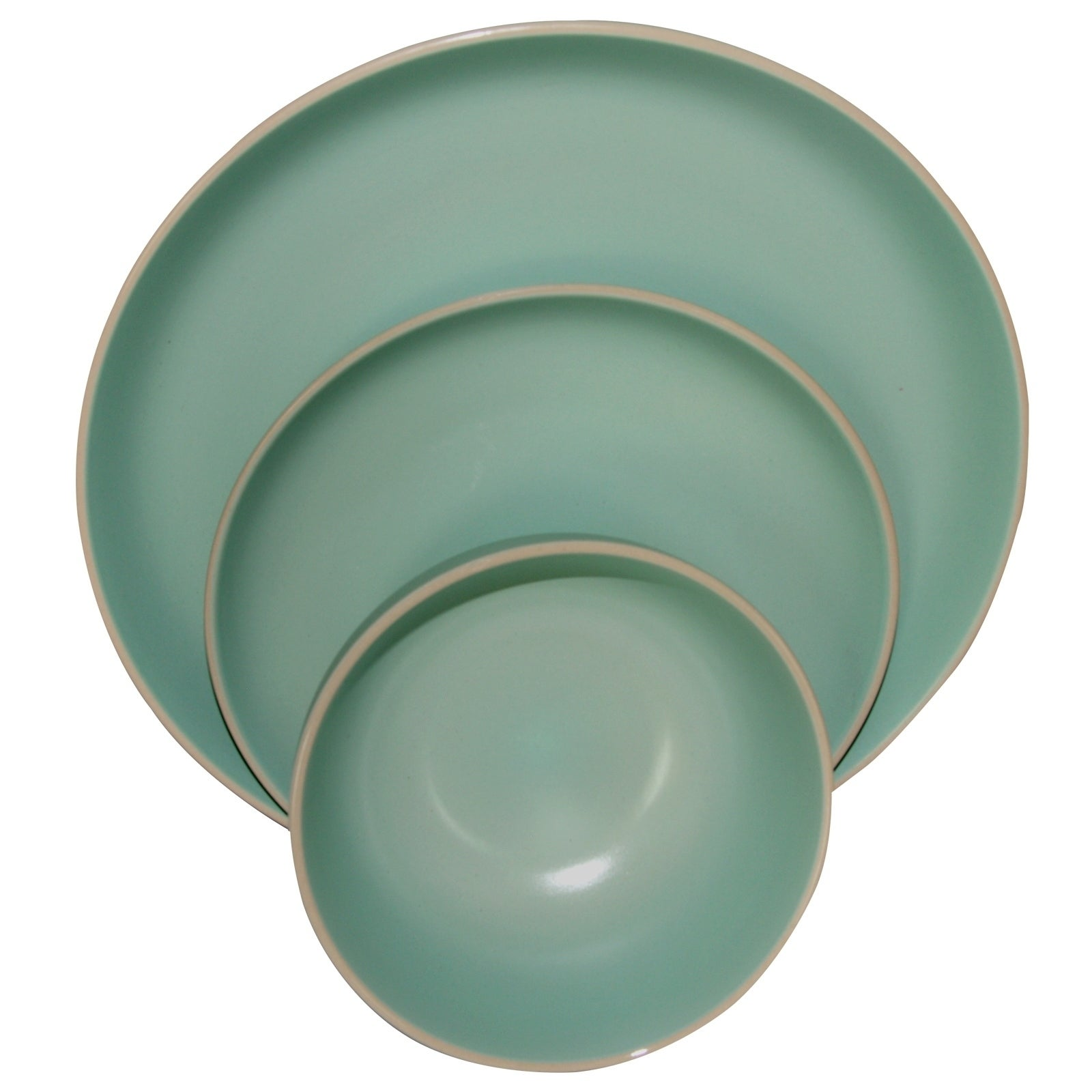 Shop Gibson Home Rockaway 12-Piece Stoneware Dinnerware Set In Matte Teal - Free Shipping Today - Overstock.com - 18107591  sc 1 st  Overstock & Shop Gibson Home Rockaway 12-Piece Stoneware Dinnerware Set In Matte ...