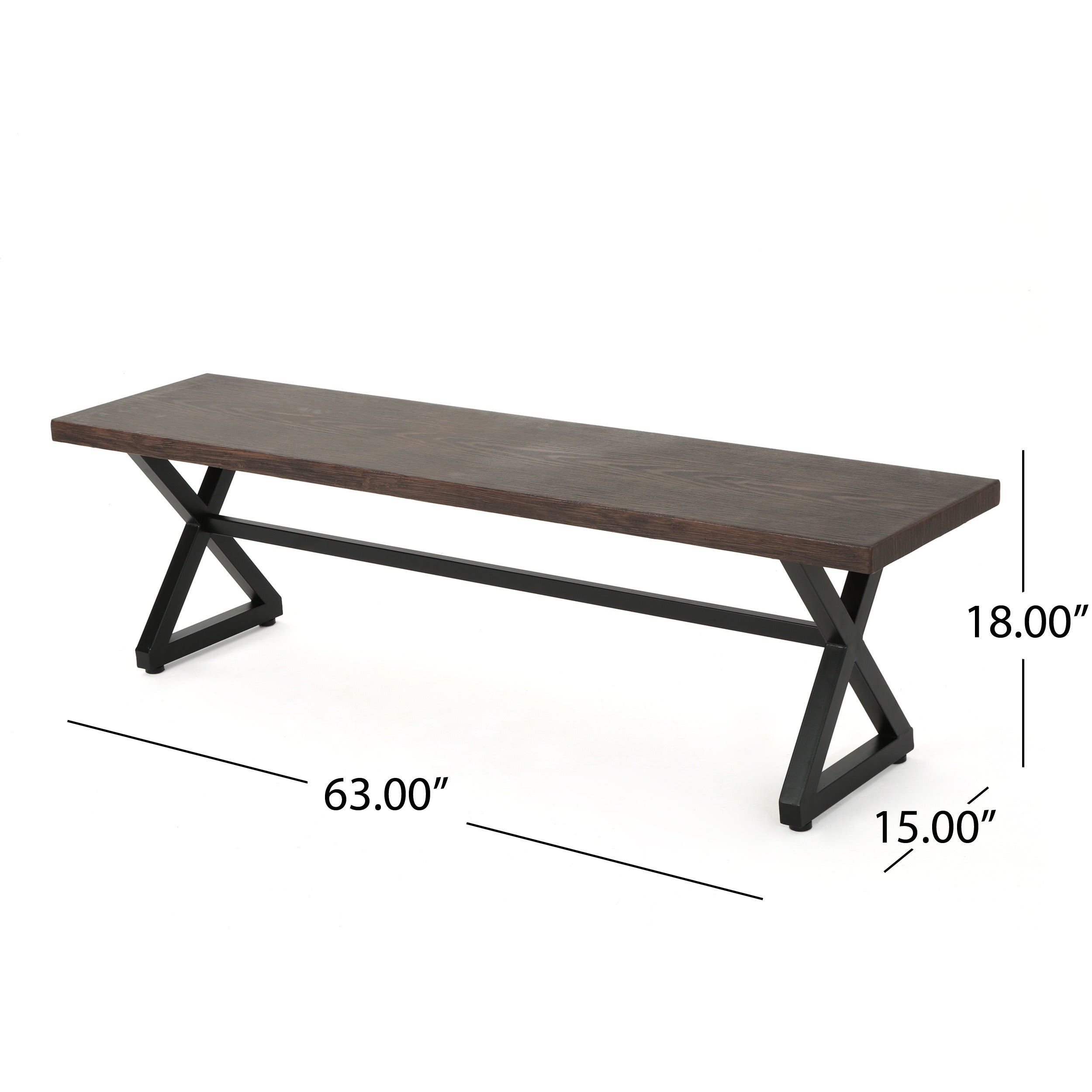 Rolando Outdoor Aluminum Dining Bench Set Of 2 By Christopher Knight Home On Free Shipping Today 18108921
