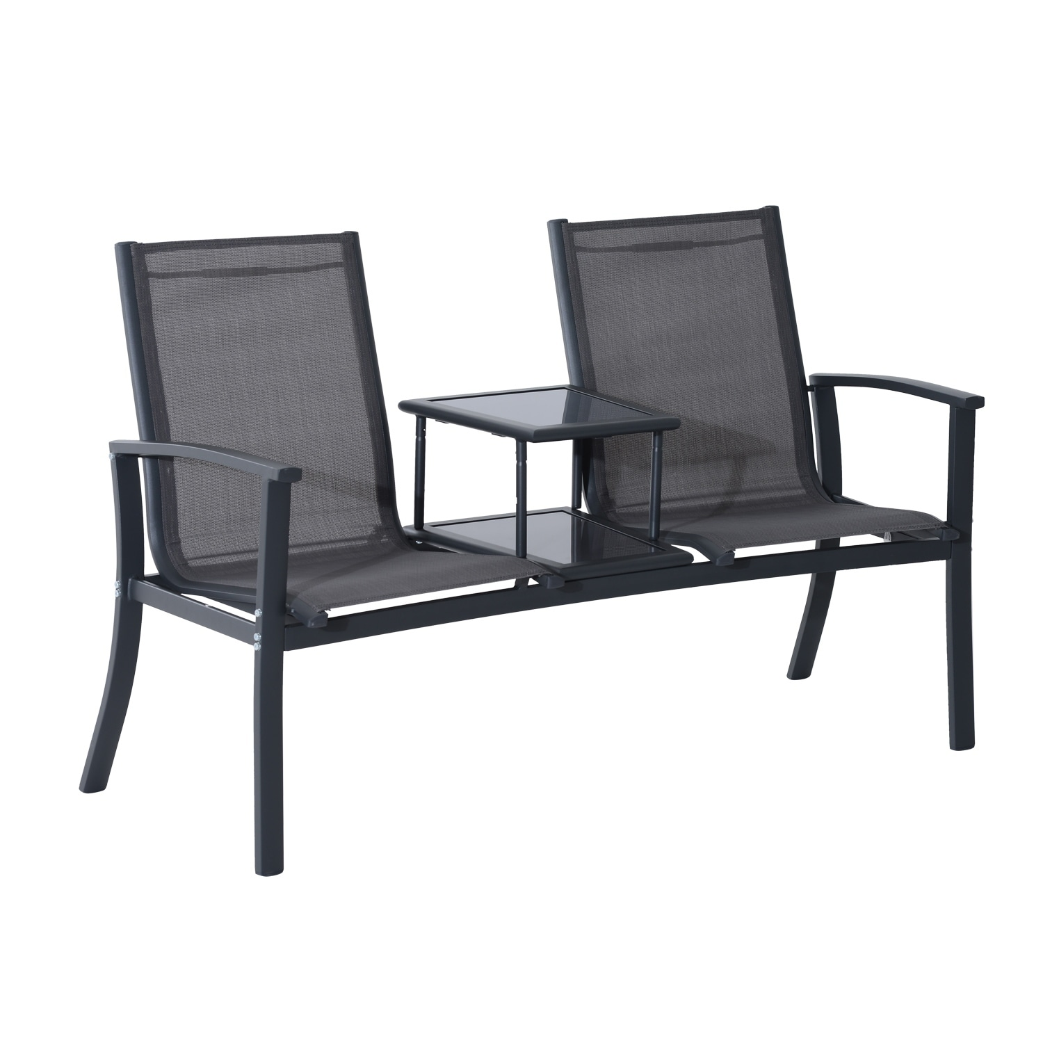 outsunny chair set outdoor lounge dining wicker couch and table black chairs sectional garden patio rattan sofa living furniture