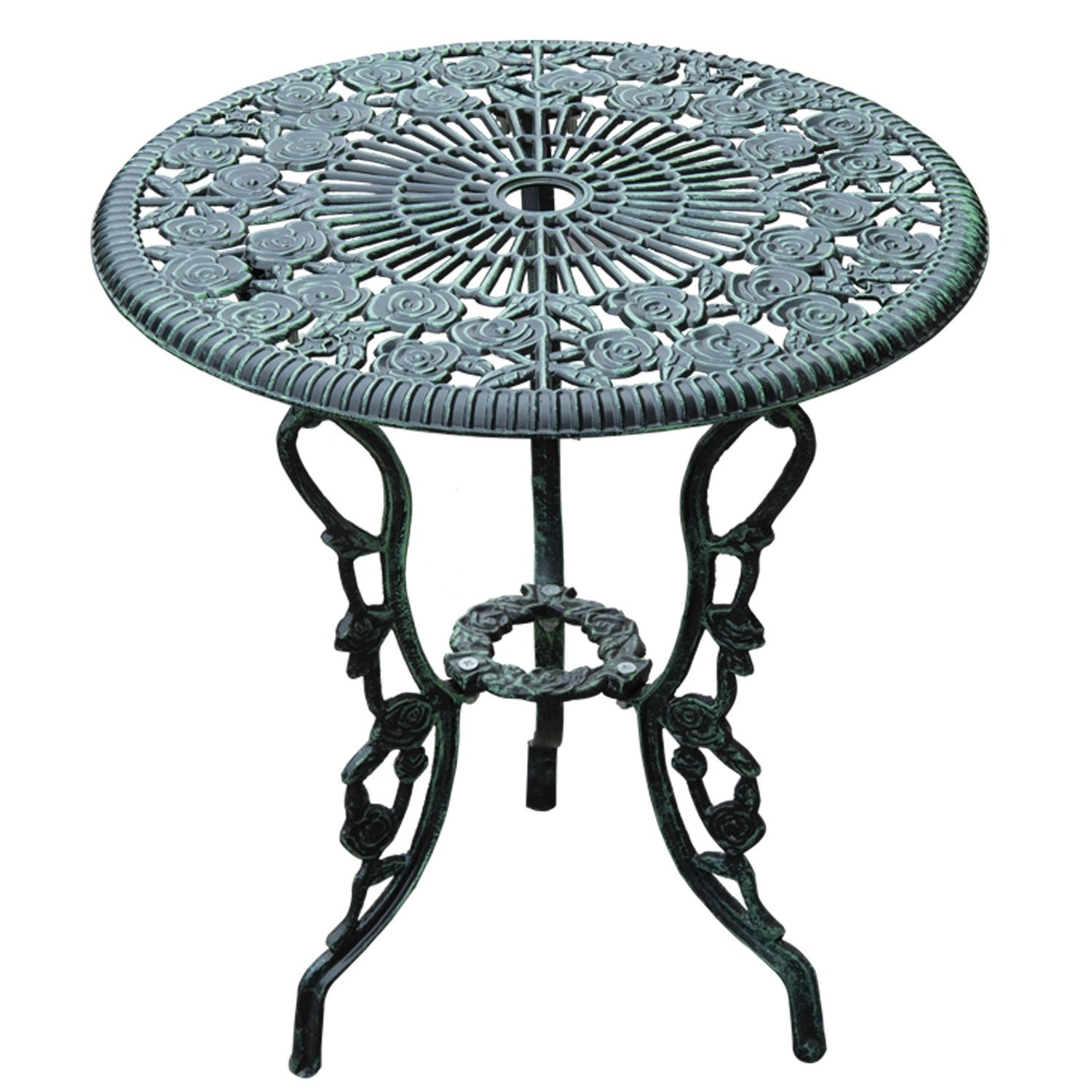 Shop Outsunny 3 Piece Outdoor Cast Iron Patio Furniture Antique Style  Dining Chair U0026 Table Bistro Set   Free Shipping Today   Overstock.com    18109311