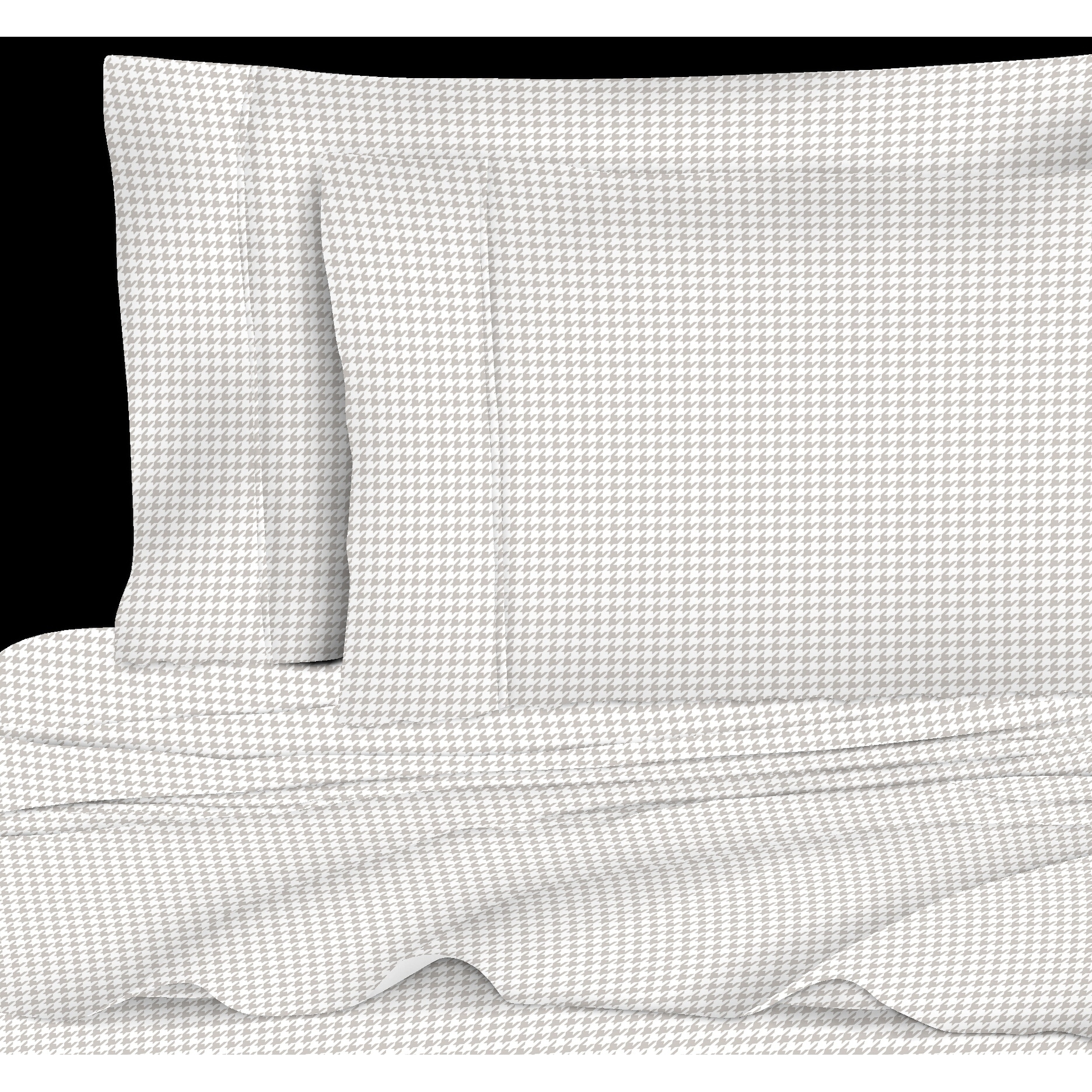 Printed Design Cotton Collection 400 Thread Count Grey Houndstooth ...