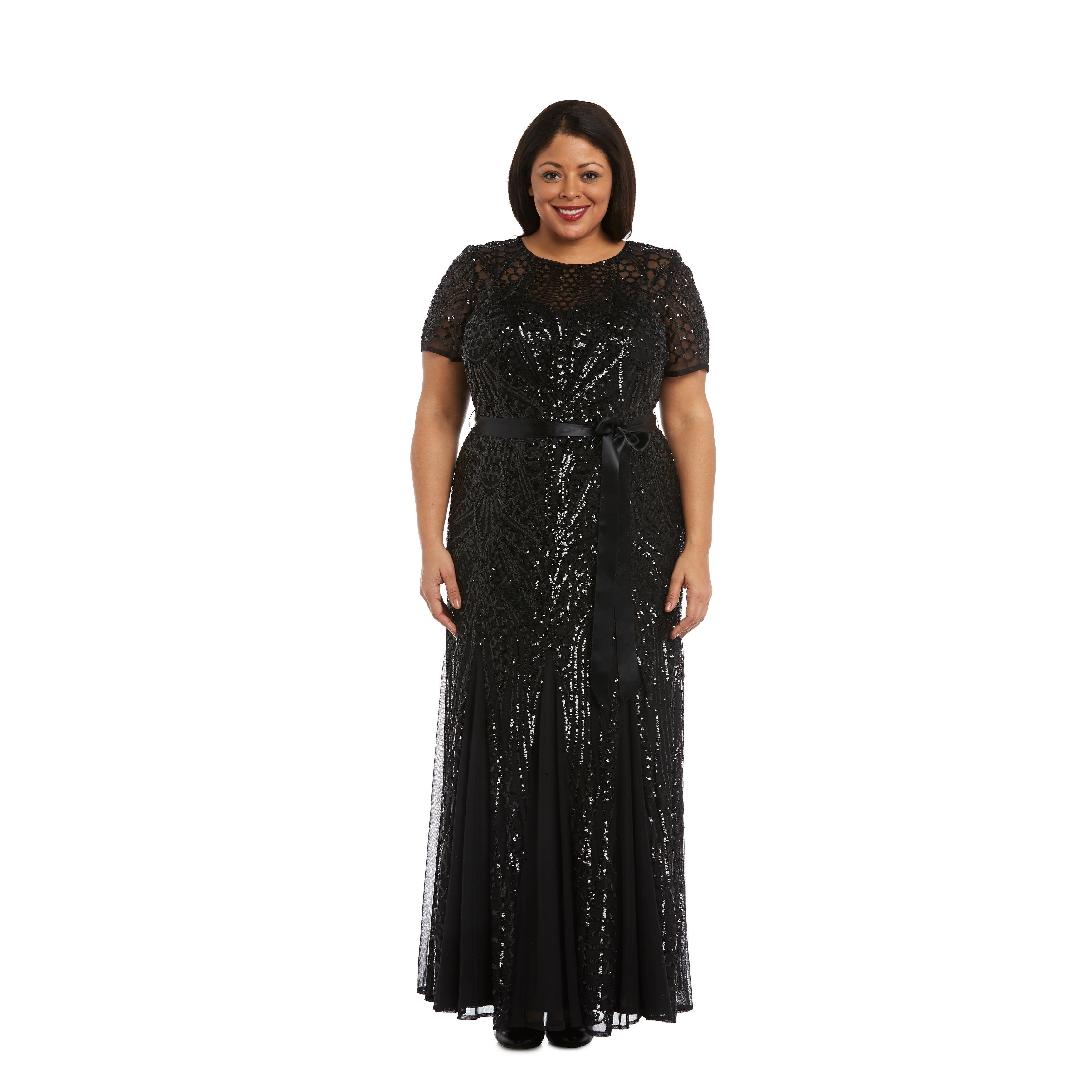 Shop 1875 Black 1 Piece Dress - Free Shipping Today - Overstock.com ...