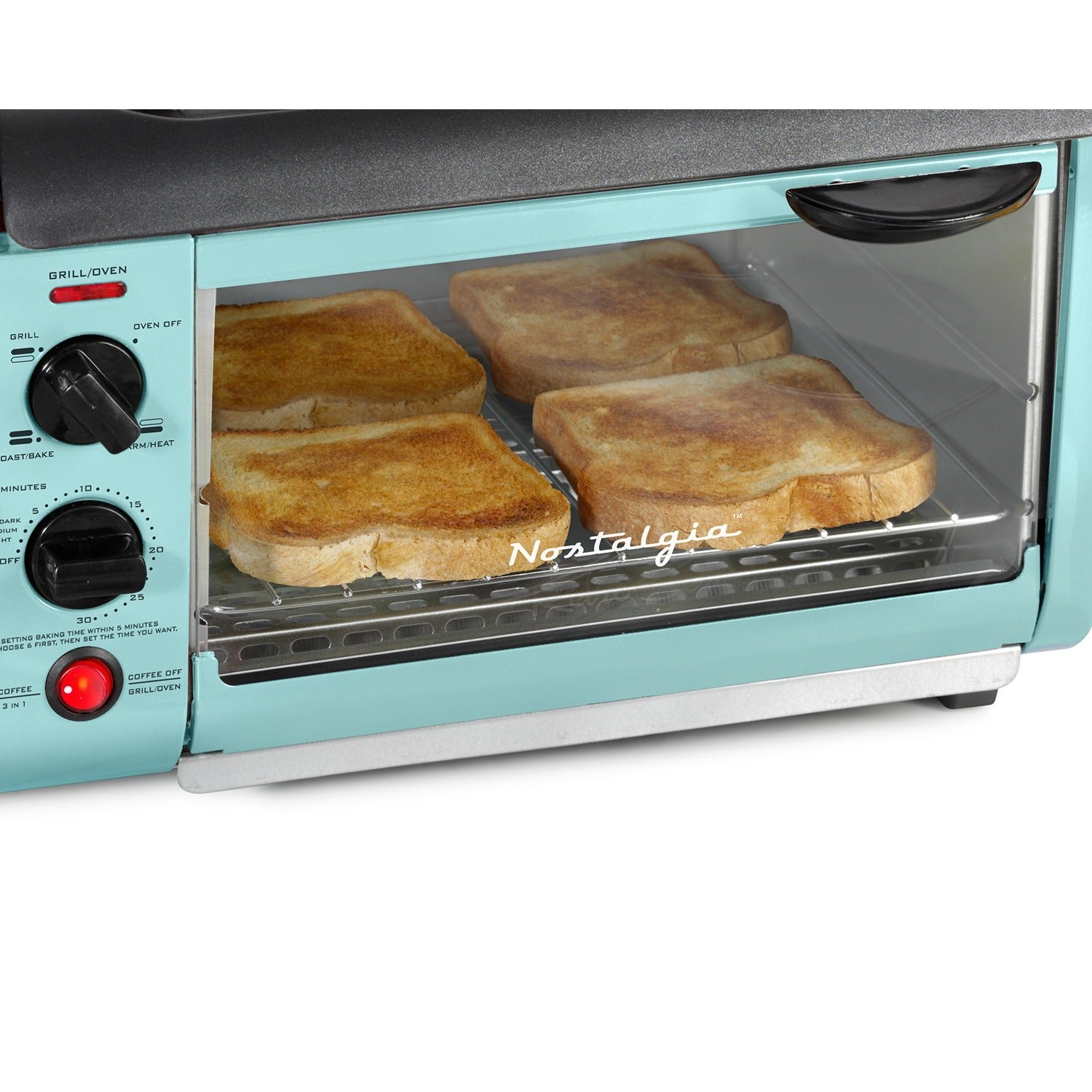 nostalgia bset300blue retro series 3 in 1 family size breakfast station   free shipping today   overstock com   24268632 nostalgia bset300blue retro series 3 in 1 family size breakfast      rh   overstock com