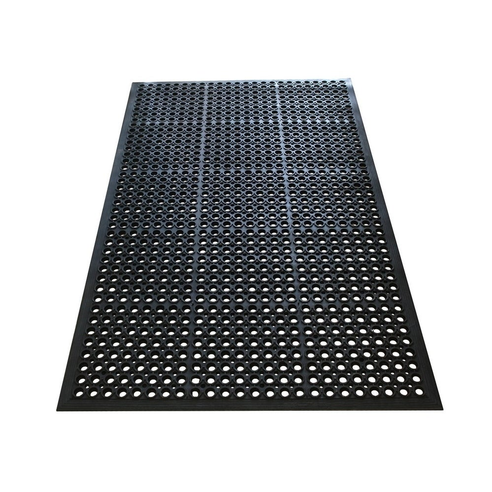 A1hc Octagonal Holes 100 Rubber 36 X 60 Ramp Kitchen Outdoor Anti Fatigue Mat Black Free Shipping Today 18113897