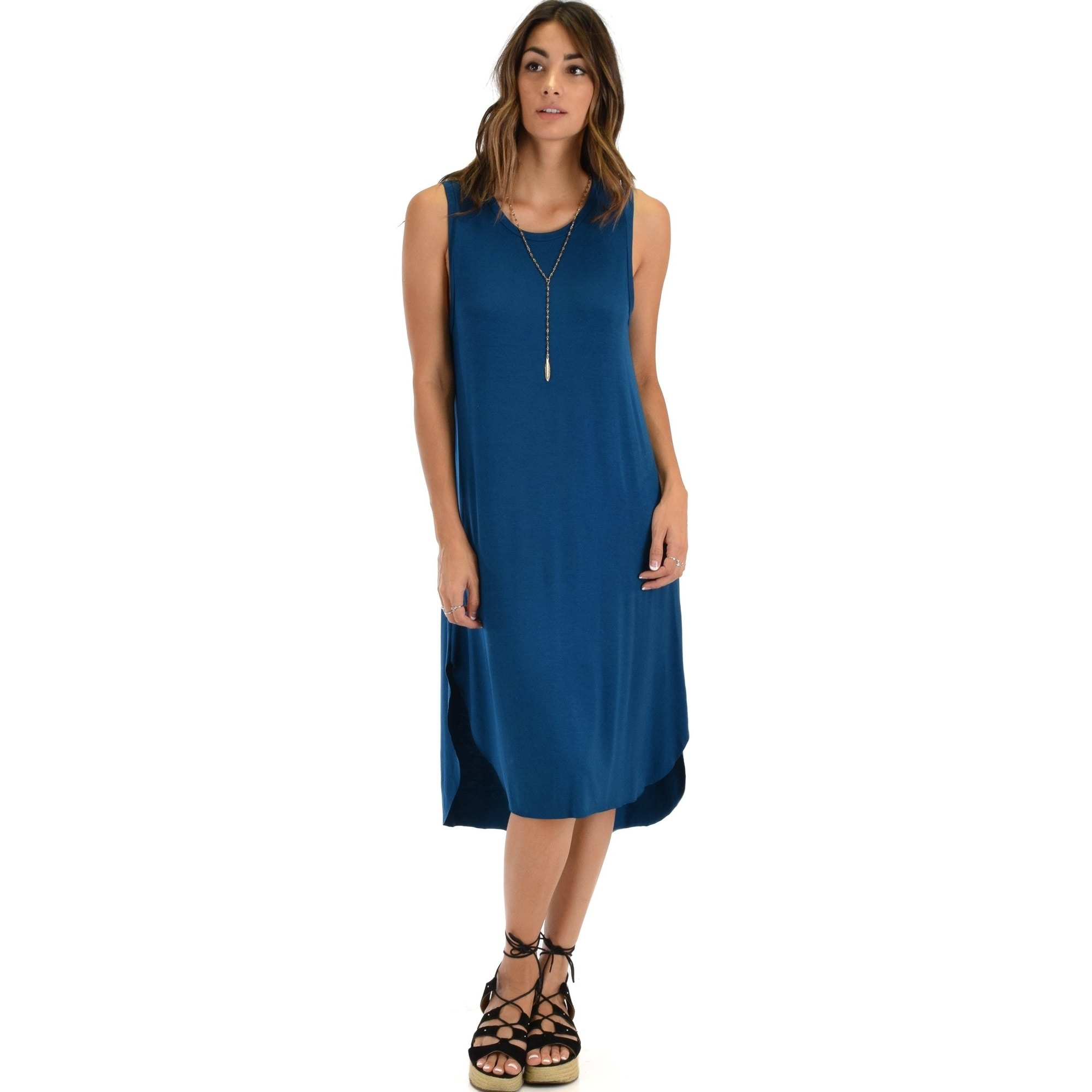 Lyss Loo Mood And Melody Side Slit T-Shirt Dress, Available In Plus Sizes