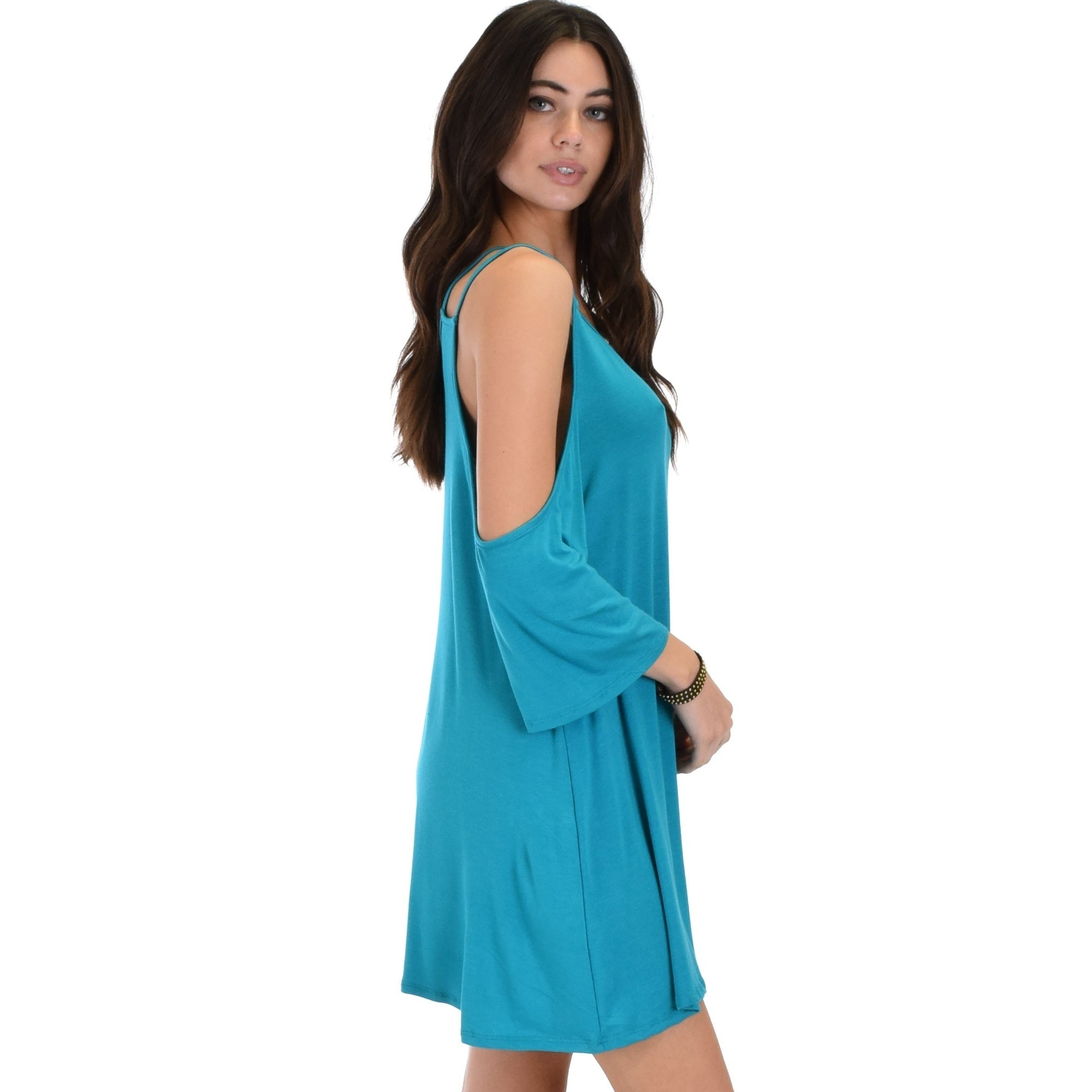 fc479192ceb9 Shop Lyss Loo Sassy Sun Kissed Strappy Shift Dress - Free Shipping On Orders  Over $45 - Overstock.com - 18114684