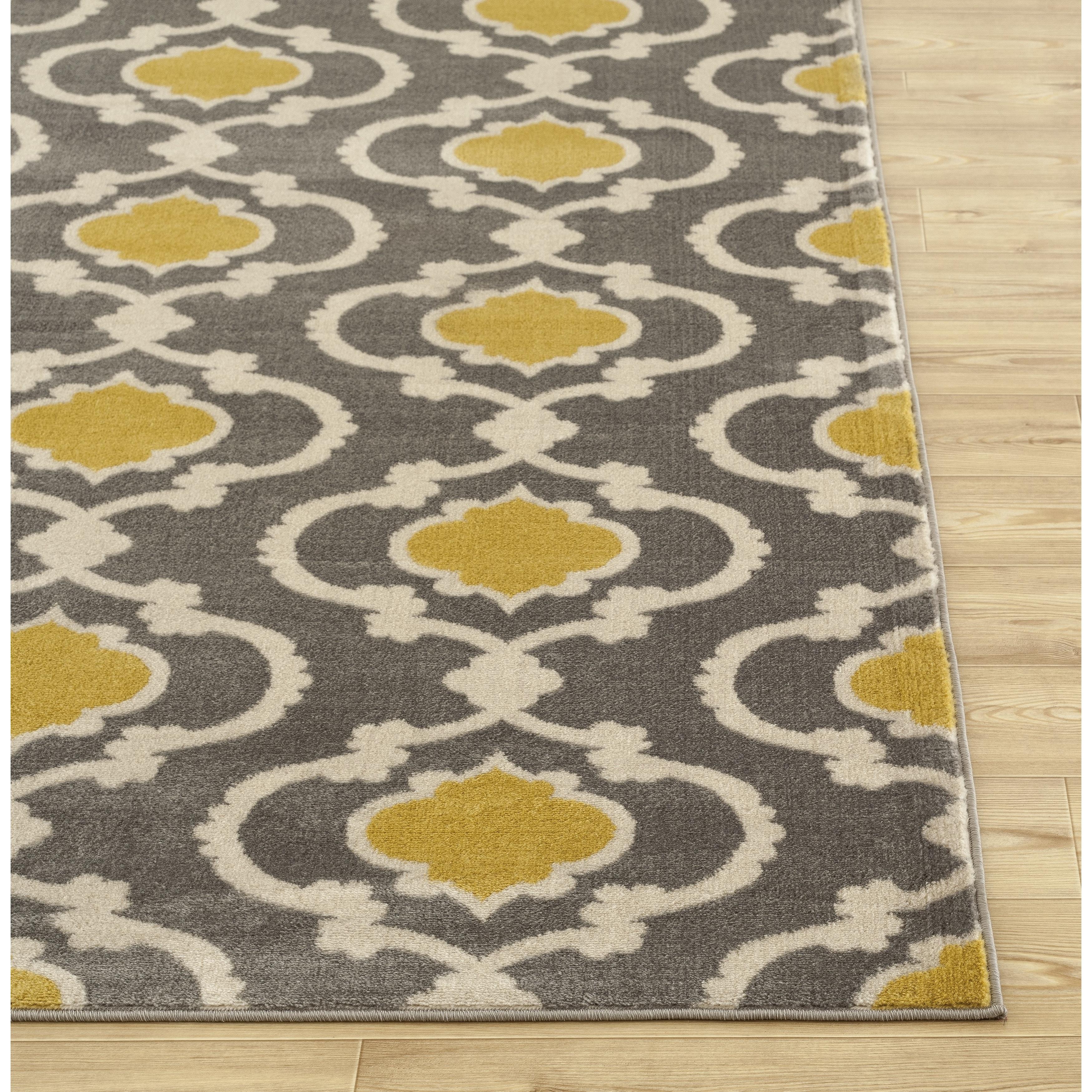 porch  den marigny touro trellis grey yellow area rug (' x ') free shipping today  overstockcom  . porch  den marigny touro trellis grey yellow area rug (' x