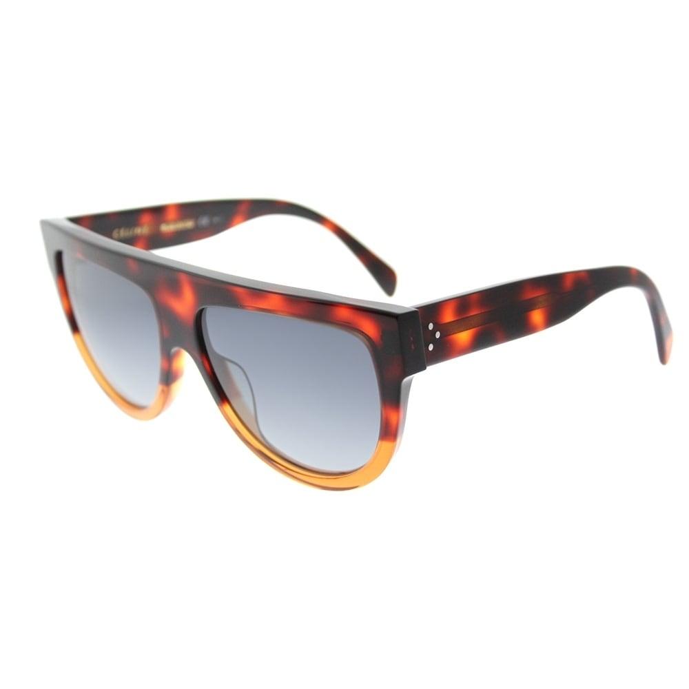 7b2d0444d631 Celine Fashion CL 41026 233 Womens Havana Brown Frame Grey Gradient Lens  Sunglasses
