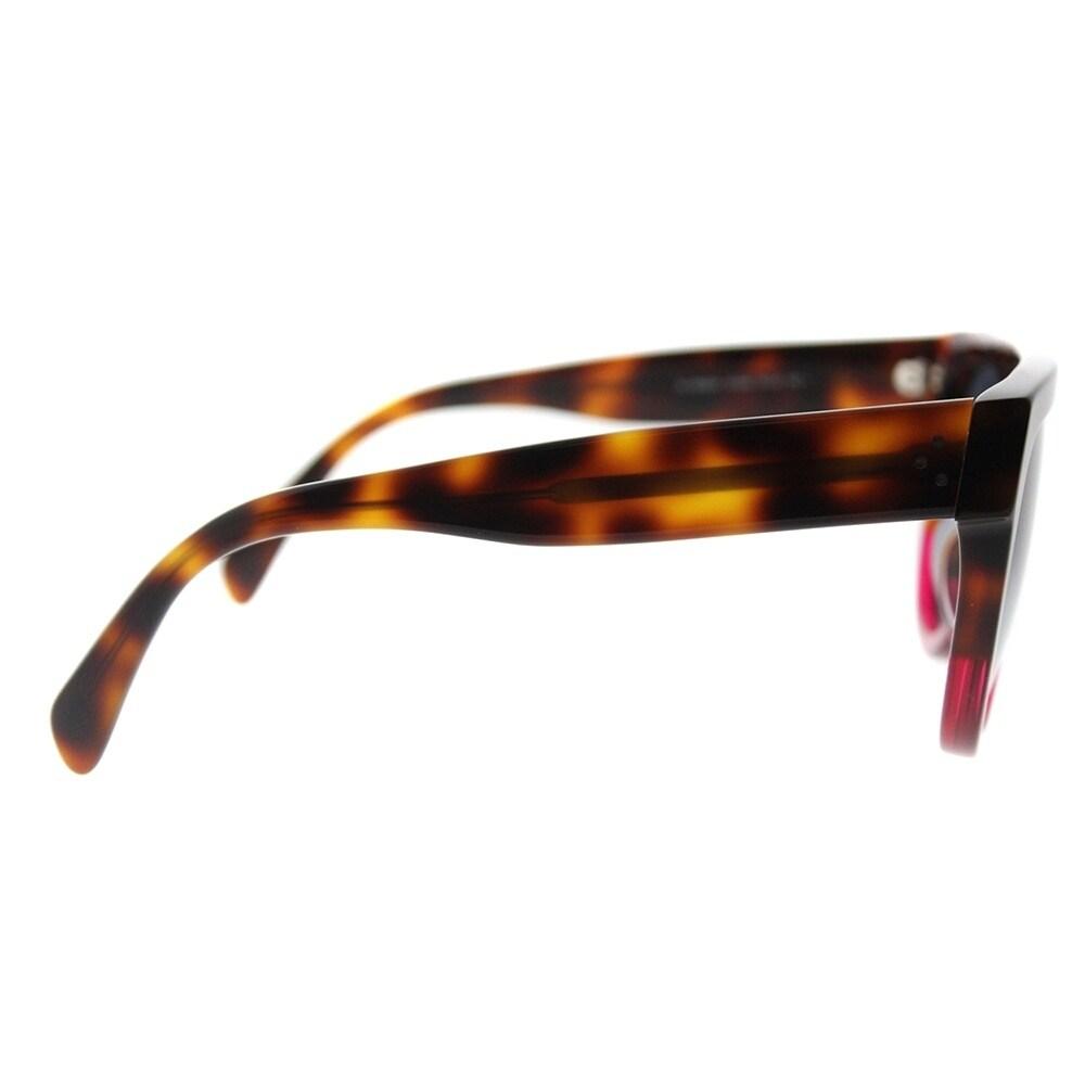 196fda32d1d Shop Celine Fashion CL 41026 23A Womens Havana Fuchsia Frame Grey Gradient  Lens Sunglasses - Free Shipping Today - Overstock - 18117913