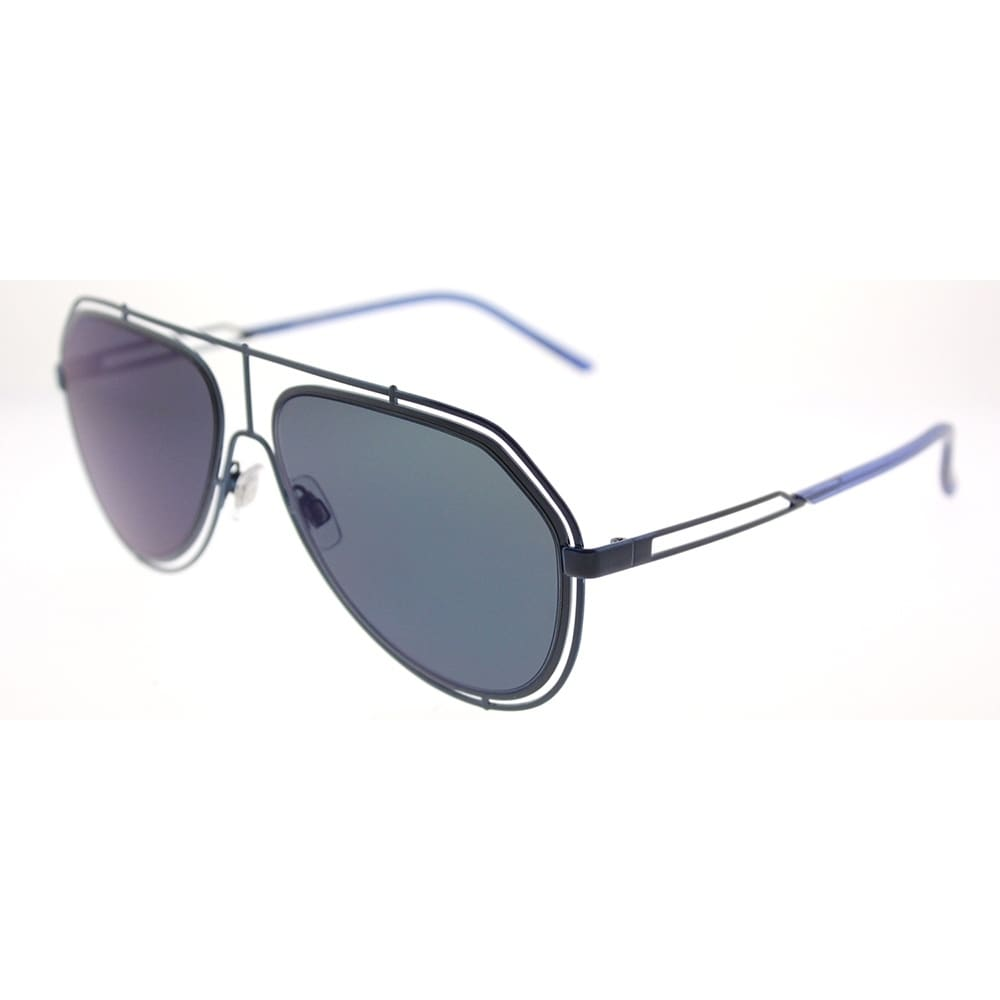 f14a4ff5cc6 Shop Dolce   Gabbana Aviator DG 2176 131096 Unisex Blue Frame Dark Grey  Lens Sunglasses - Free Shipping Today - Overstock - 18117920