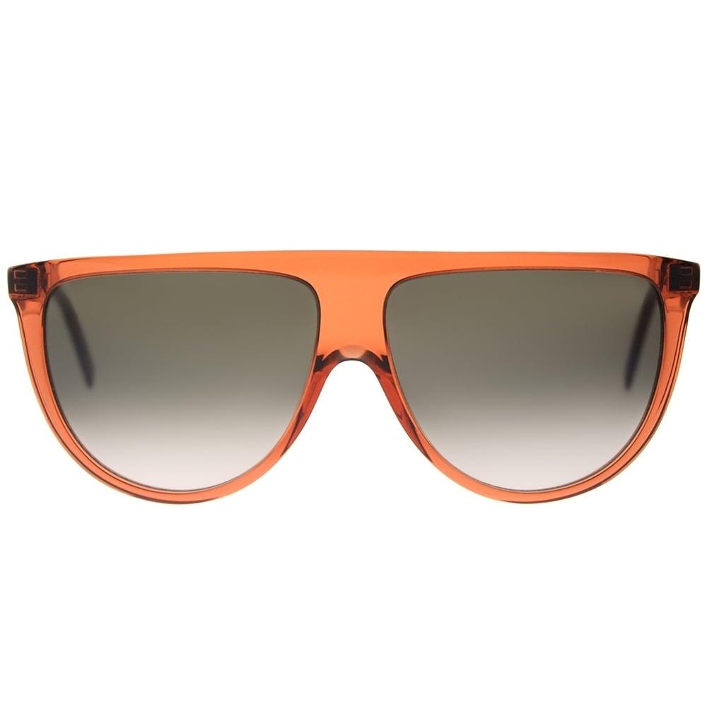 514019a06b Shop Celine Round CL 41435 EFB Womens Dark Orange Frame Brown Degrade Lens  Sunglasses - Free Shipping Today - Overstock - 18117931